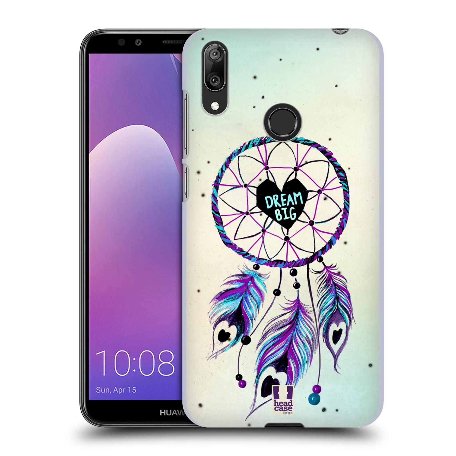 Plastové pouzdro na mobil Huawei Y7 (2019) - Head Case - Lapač Assorted Dream Big Srdce