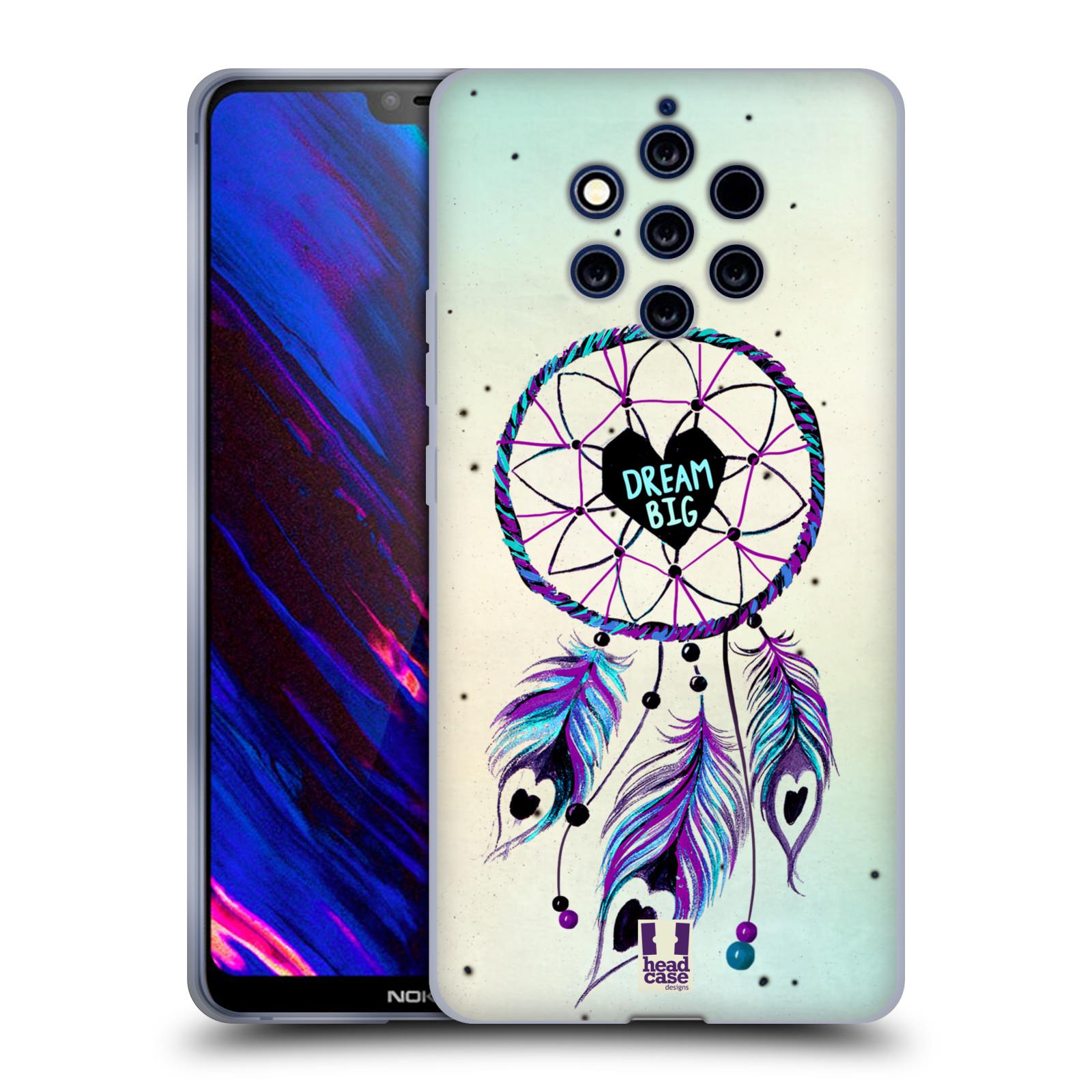 Silikonové pouzdro na mobil Nokia 9 PureView - Head Case - Lapač Assorted Dream Big Srdce