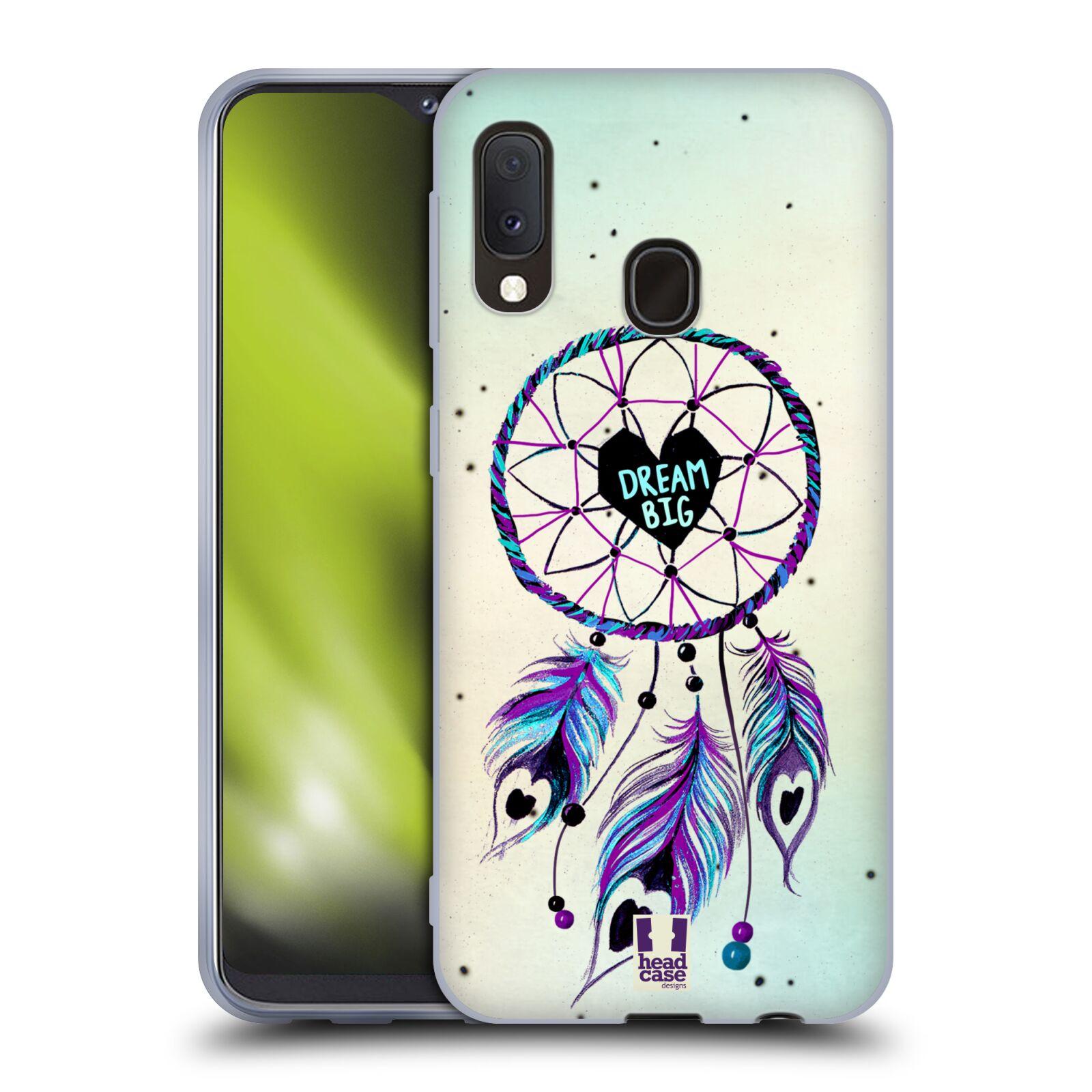 Silikonové pouzdro na mobil Samsung Galaxy A20e - Head Case - Lapač Assorted Dream Big Srdce