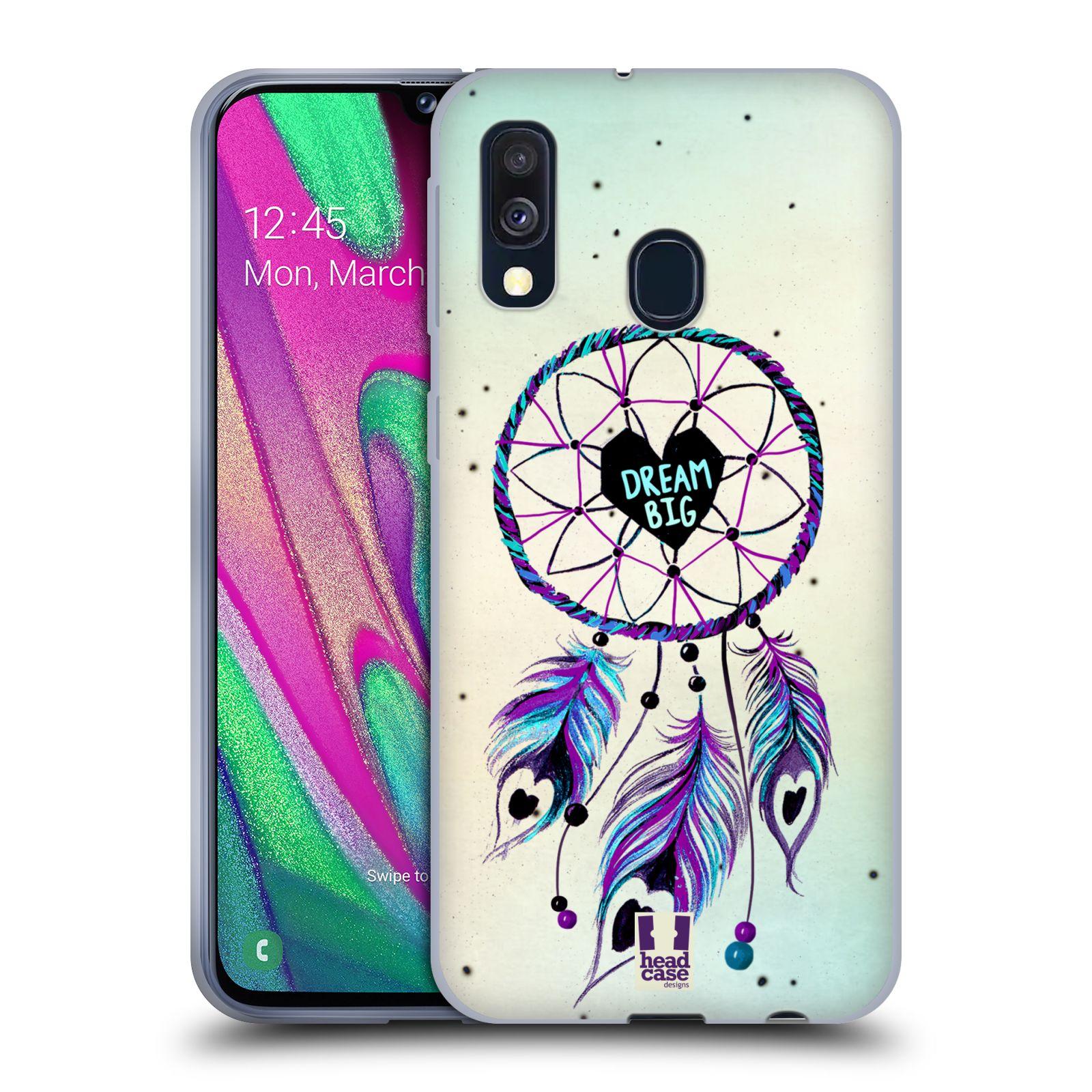Silikonové pouzdro na mobil Samsung Galaxy A40 - Head Case - Lapač Assorted Dream Big Srdce