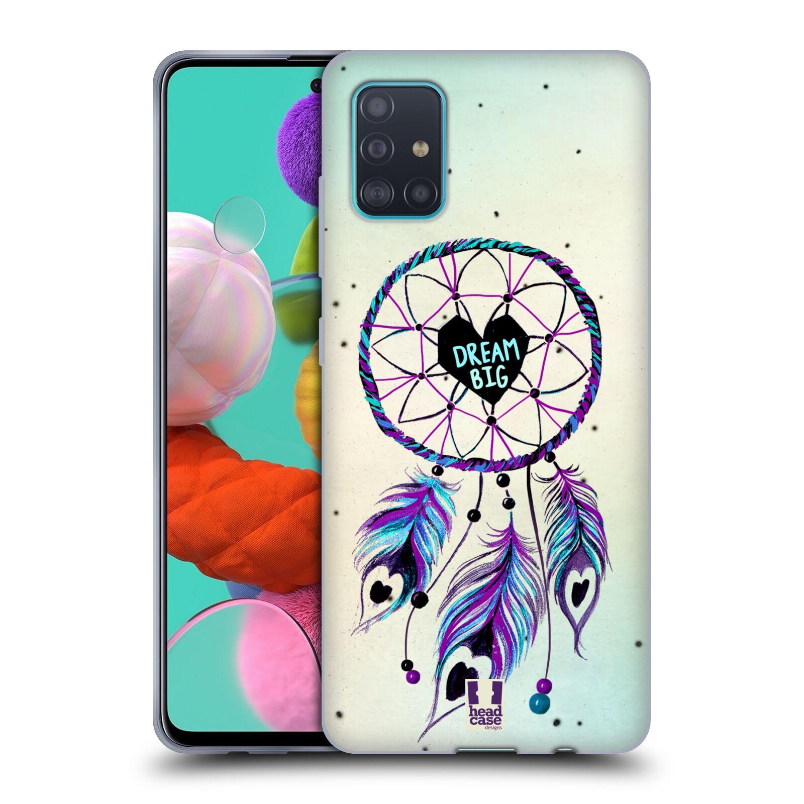 Silikonové pouzdro na mobil Samsung Galaxy A51 - Head Case - Lapač Assorted Dream Big Srdce