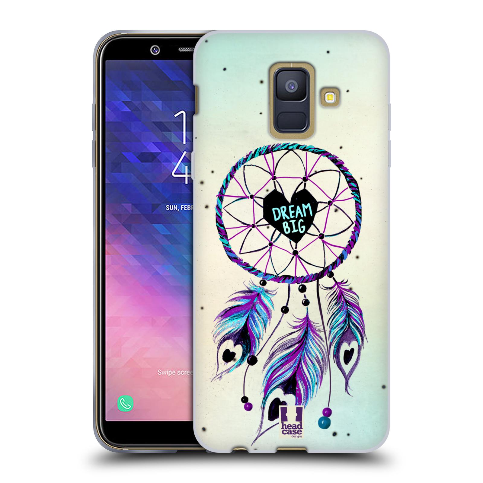 Silikonové pouzdro na mobil Samsung Galaxy A6 (2018) - Head Case - Lapač Assorted Dream Big Srdce
