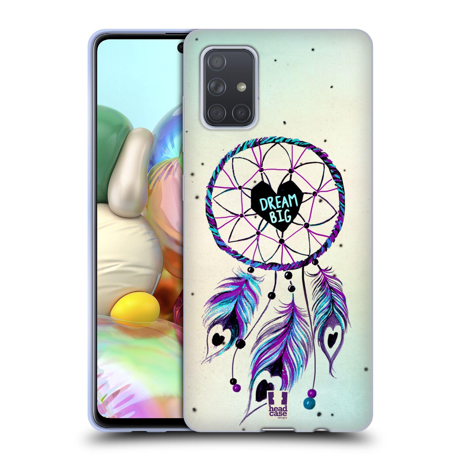 Silikonové pouzdro na mobil Samsung Galaxy A71 - Head Case - Lapač Assorted Dream Big Srdce
