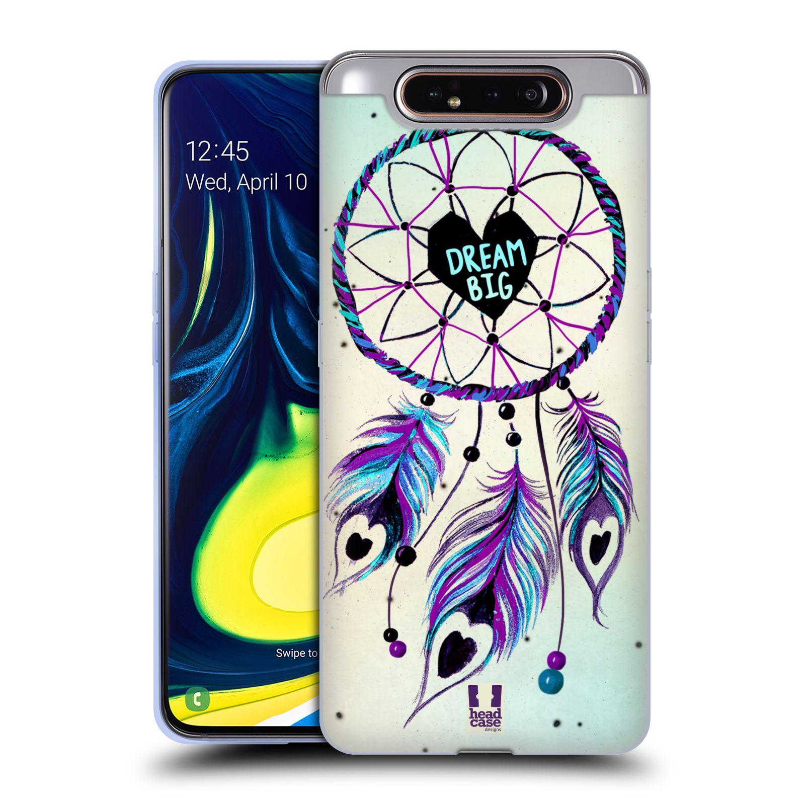 Silikonové pouzdro na mobil Samsung Galaxy A80 - Head Case - Lapač Assorted Dream Big Srdce