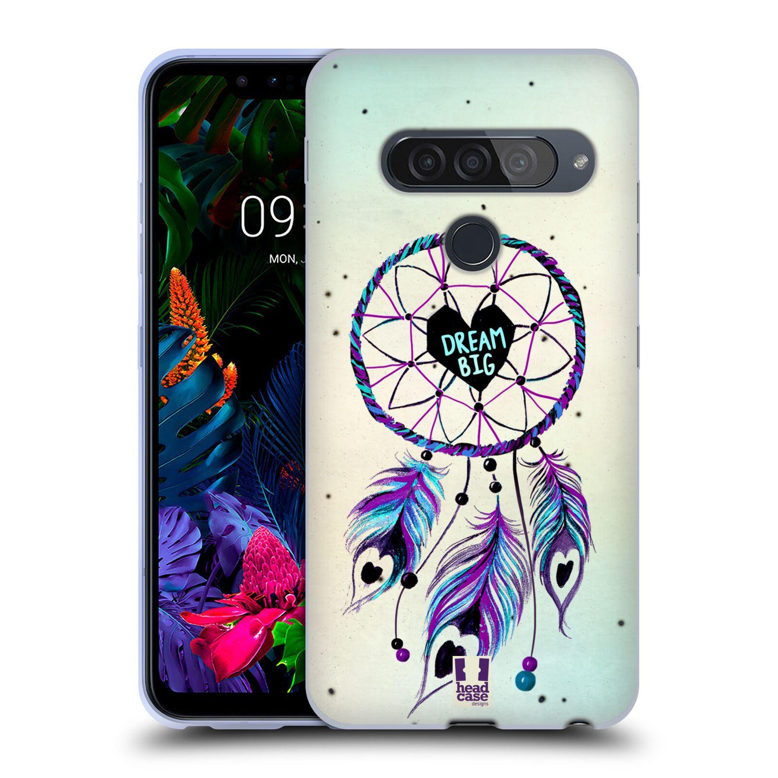 Silikonové pouzdro na mobil LG G8s ThinQ - Head Case - Lapač Assorted Dream Big Srdce