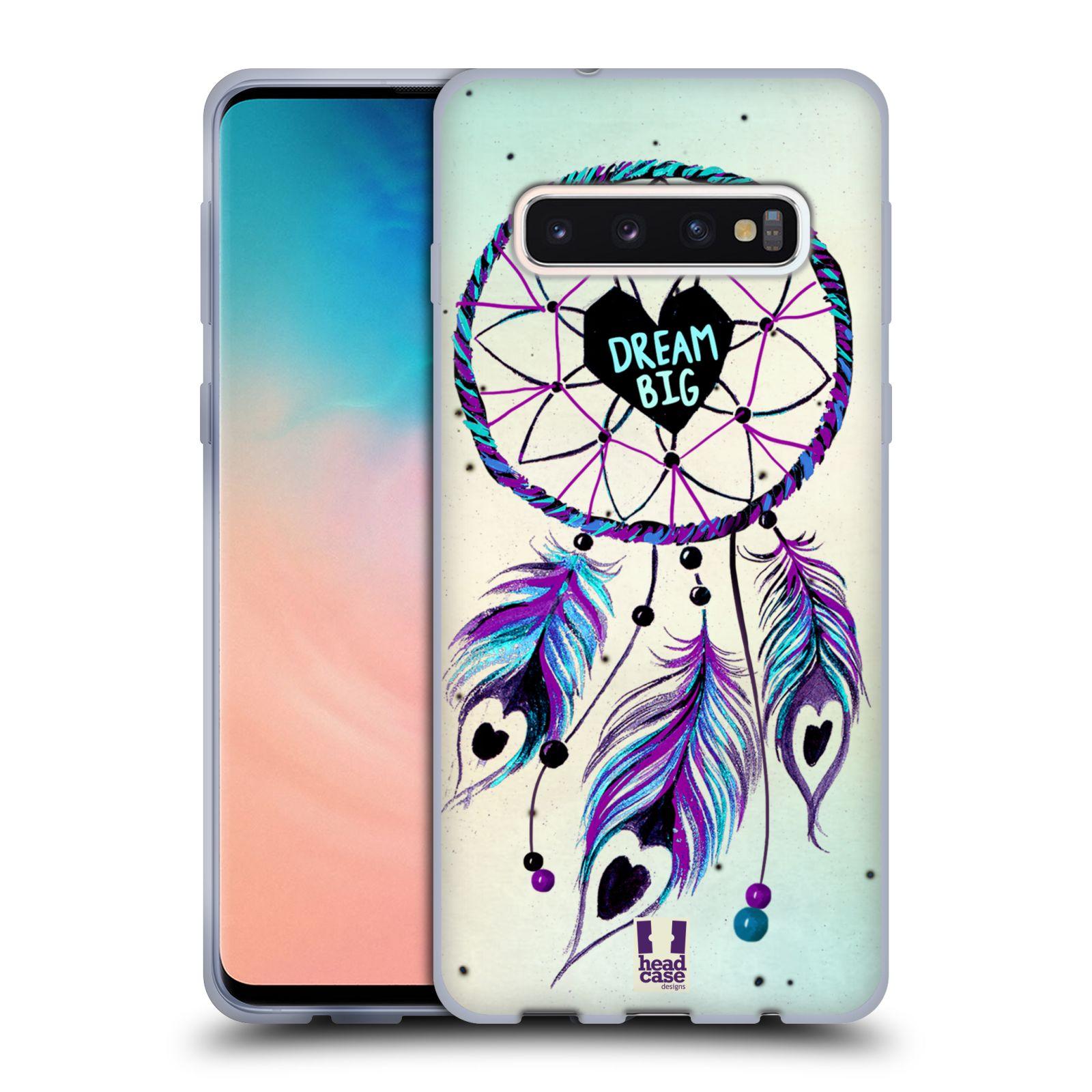 Silikonové pouzdro na mobil Samsung Galaxy S10 - Head Case - Lapač Assorted Dream Big Srdce