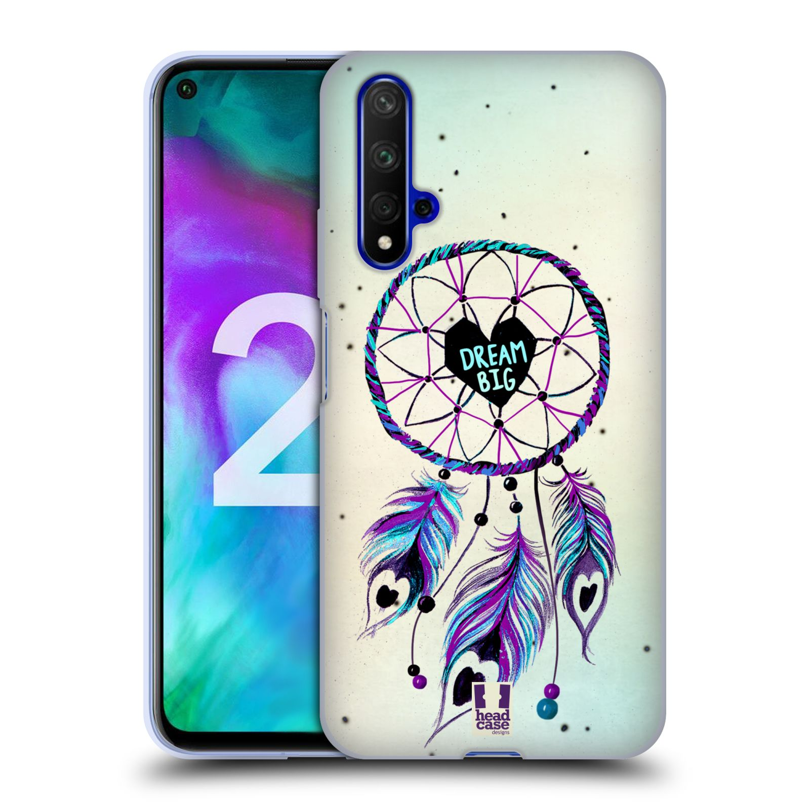 Silikonové pouzdro na mobil Honor 20 - Head Case - Lapač Assorted Dream Big Srdce