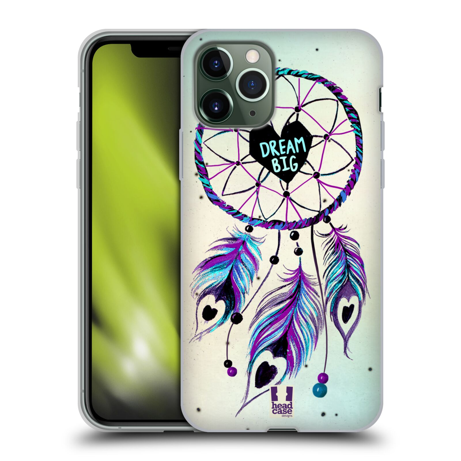 kryt na iphone 6s cerveny | Silikonové pouzdro na mobil Apple iPhone 11 Pro - Head Case - Lapač Assorted Dream Big Srdce