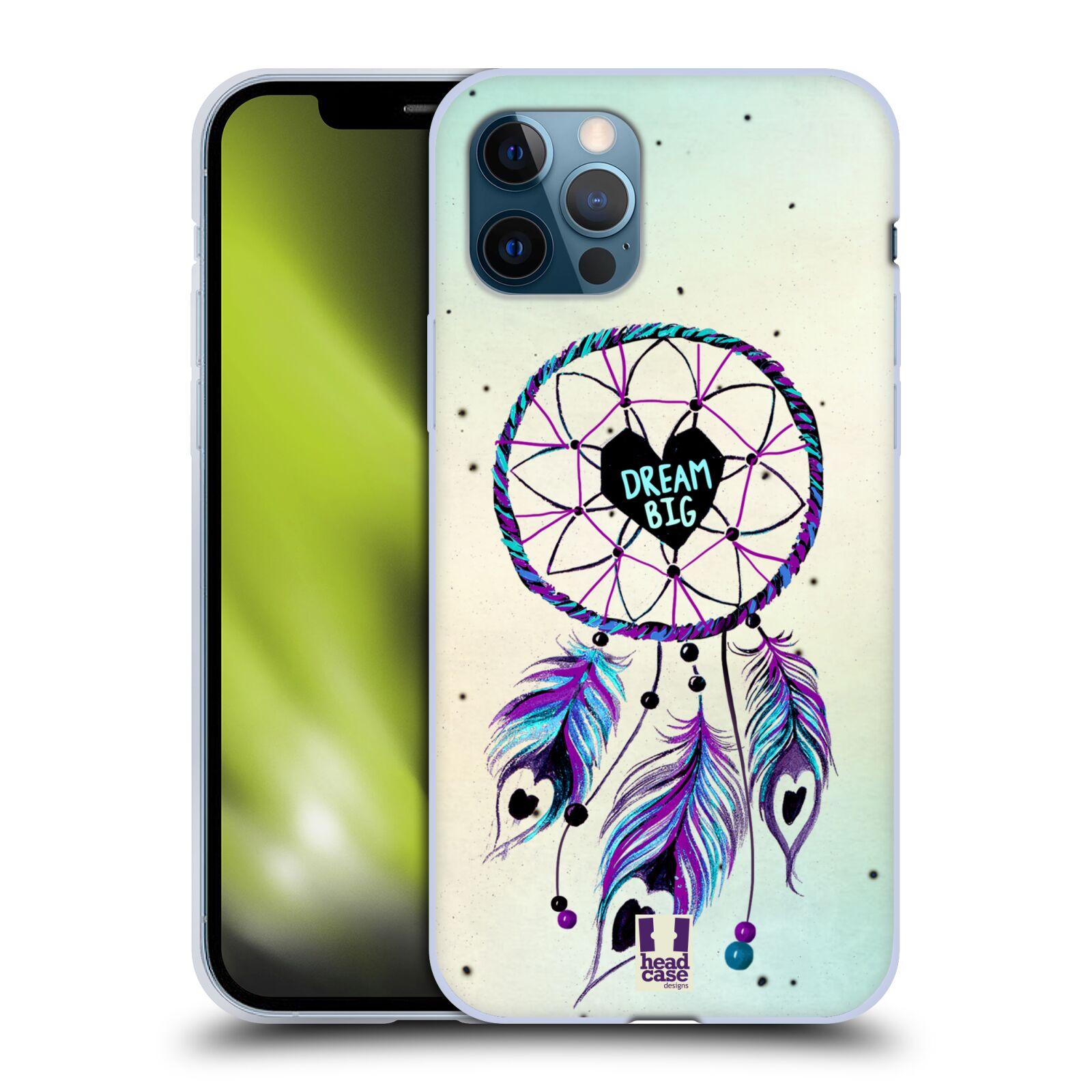 Silikonové pouzdro na mobil Apple iPhone 12 / 12 Pro - Head Case - Lapač Assorted Dream Big Srdce