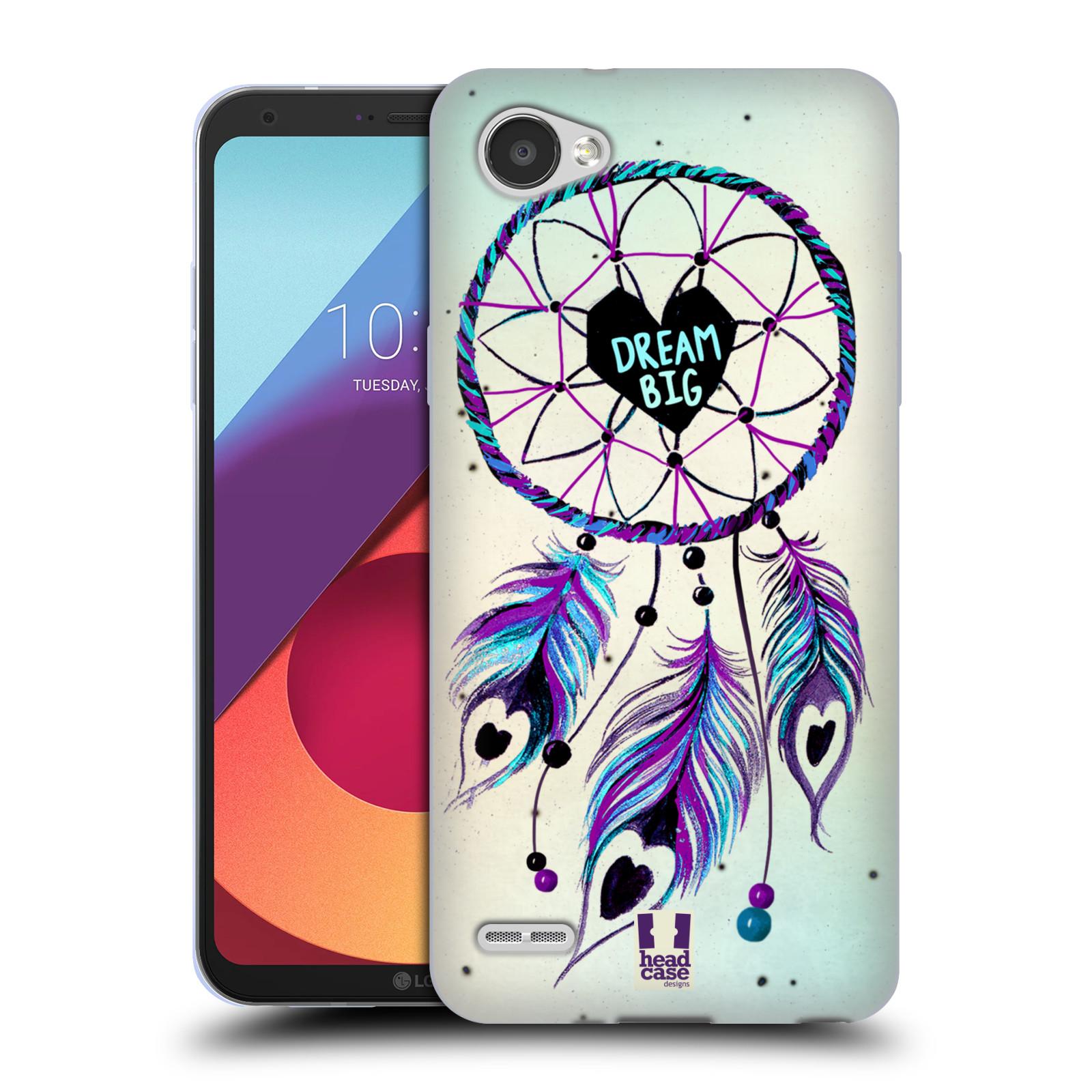 Silikonové pouzdro na mobil LG Q6 - Head Case - Lapač Assorted Dream Big Srdce