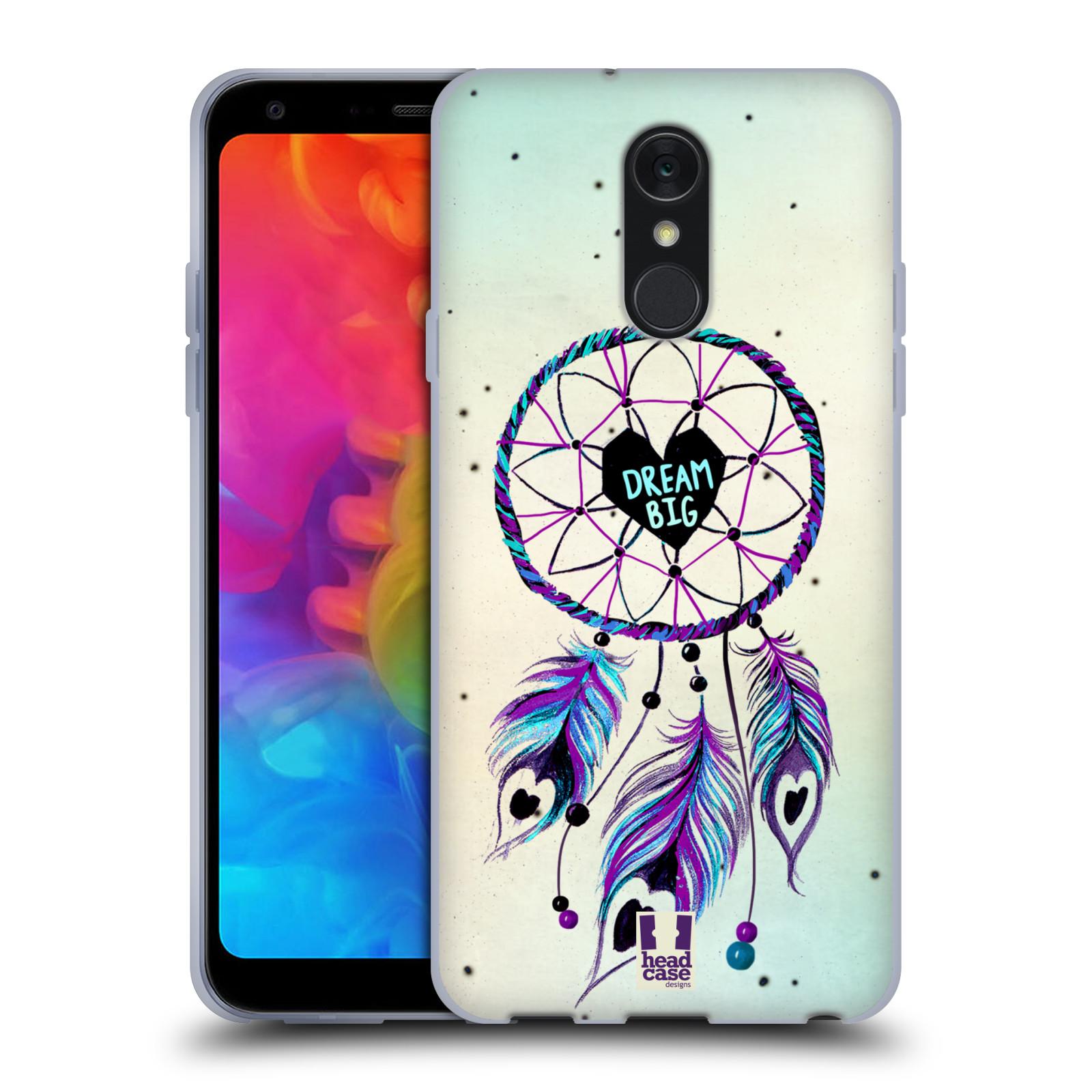 Silikonové pouzdro na mobil LG Q7 - Head Case - Lapač Assorted Dream Big Srdce