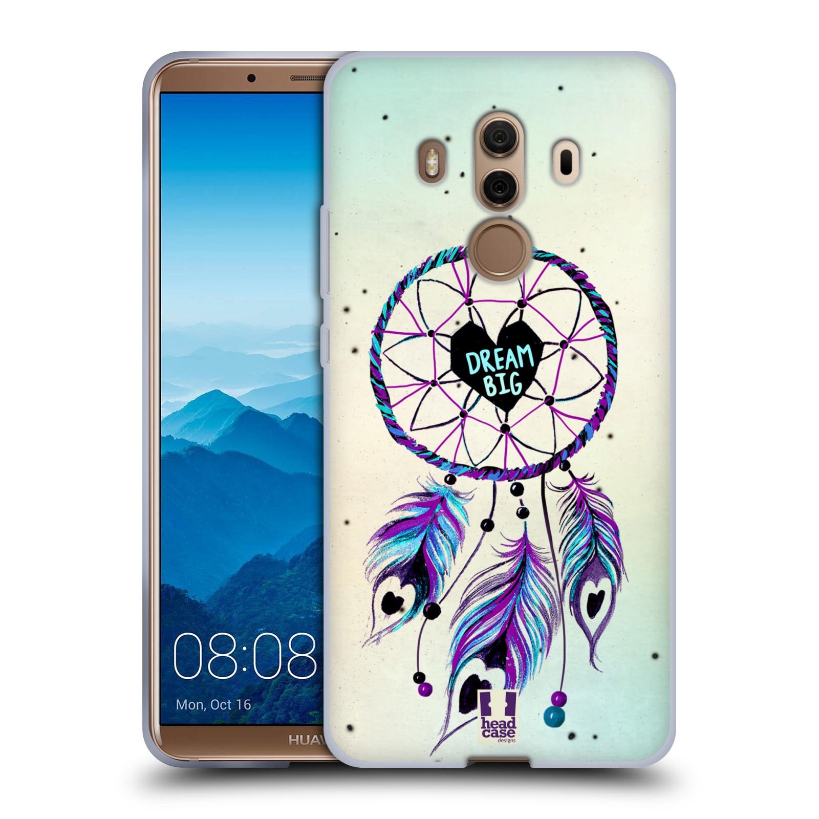 Silikonové pouzdro na mobil Huawei Mate 10 Pro - Head Case - Lapač Assorted Dream Big Srdce