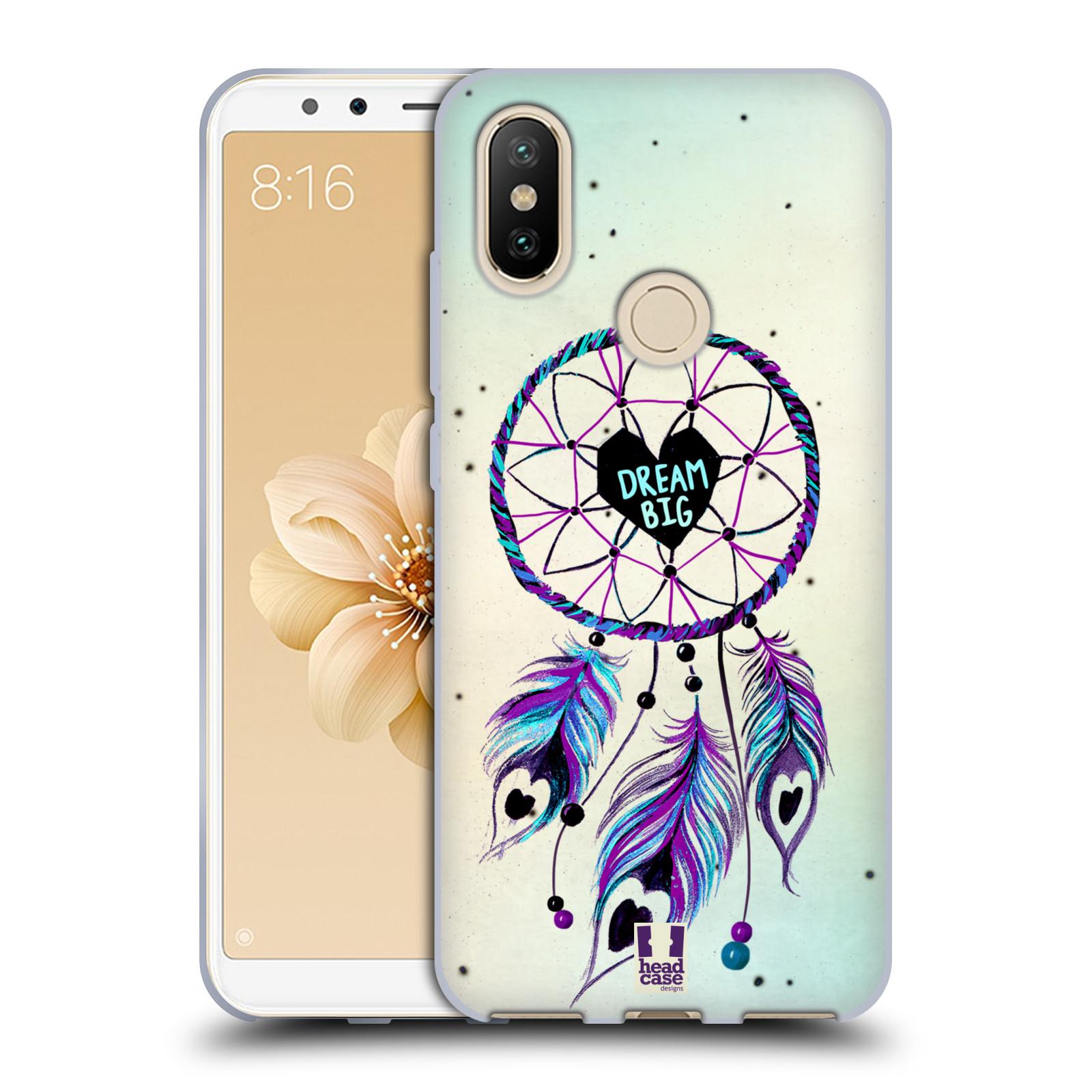 Silikonové pouzdro na mobil Xiaomi Mi A2 - Head Case - Lapač Assorted Dream Big Srdce