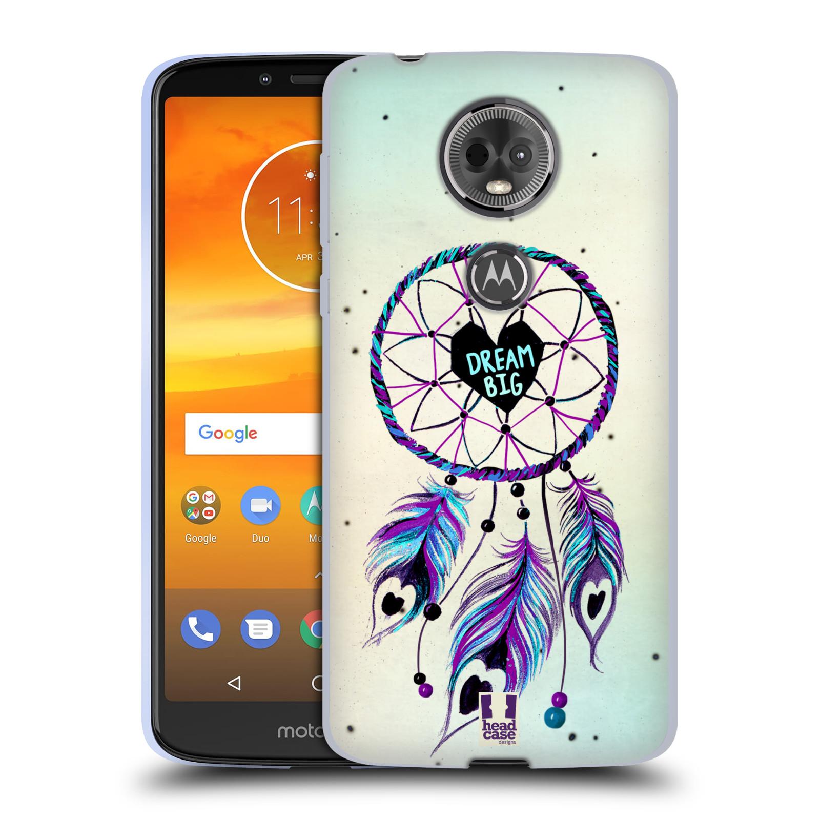 Silikonové pouzdro na mobil Motorola Moto E5 Plus - Head Case - Lapač Assorted Dream Big Srdce