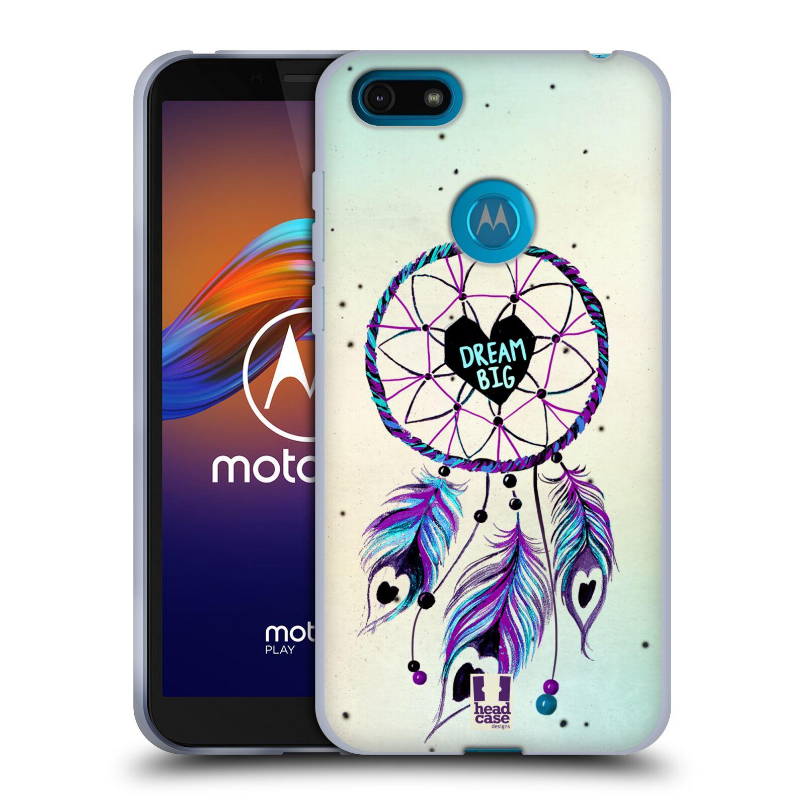 Silikonové pouzdro na mobil Motorola Moto E6 Play - Head Case - Lapač Assorted Dream Big Srdce