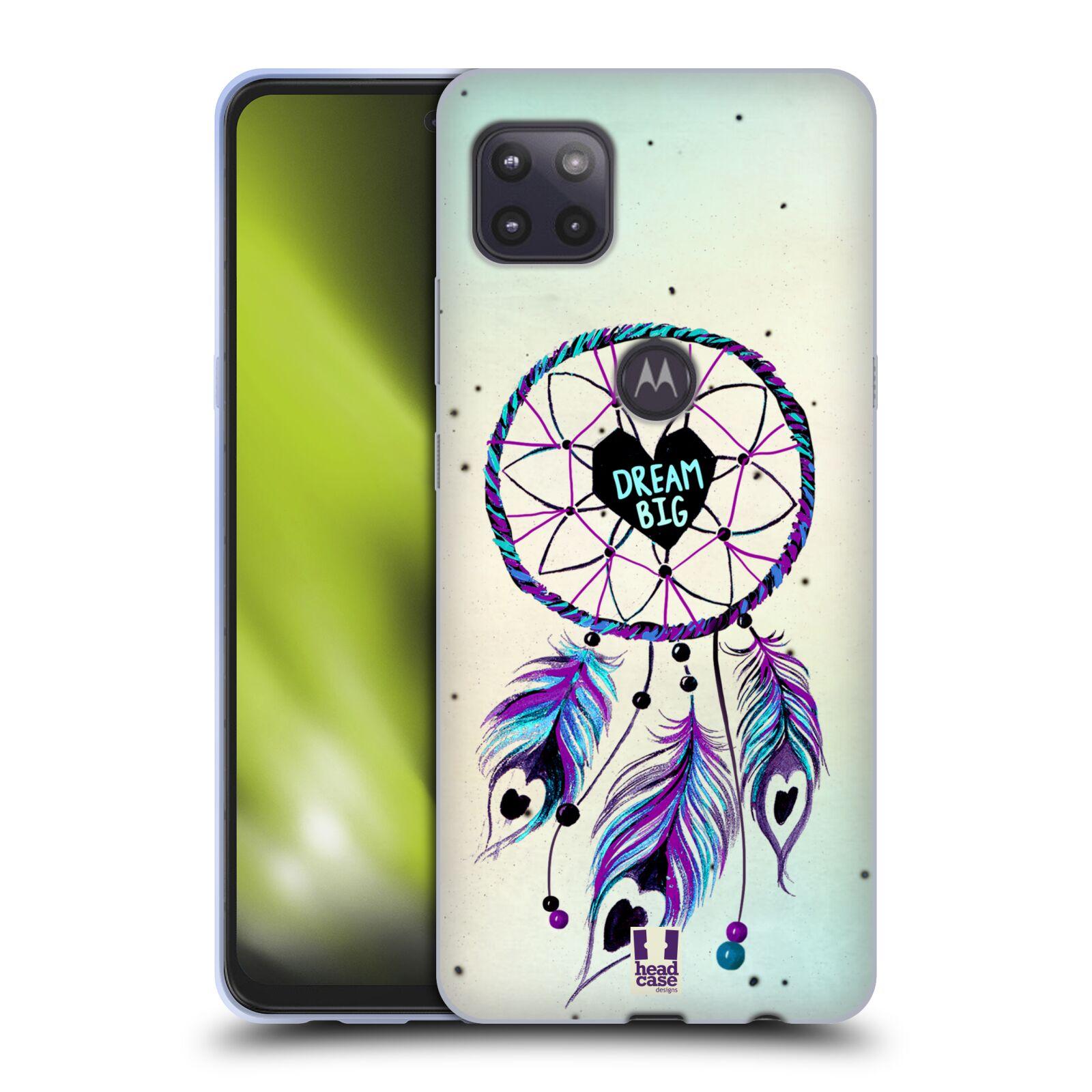 Silikonové pouzdro na mobil Motorola Moto G 5G - Head Case - Lapač Assorted Dream Big Srdce