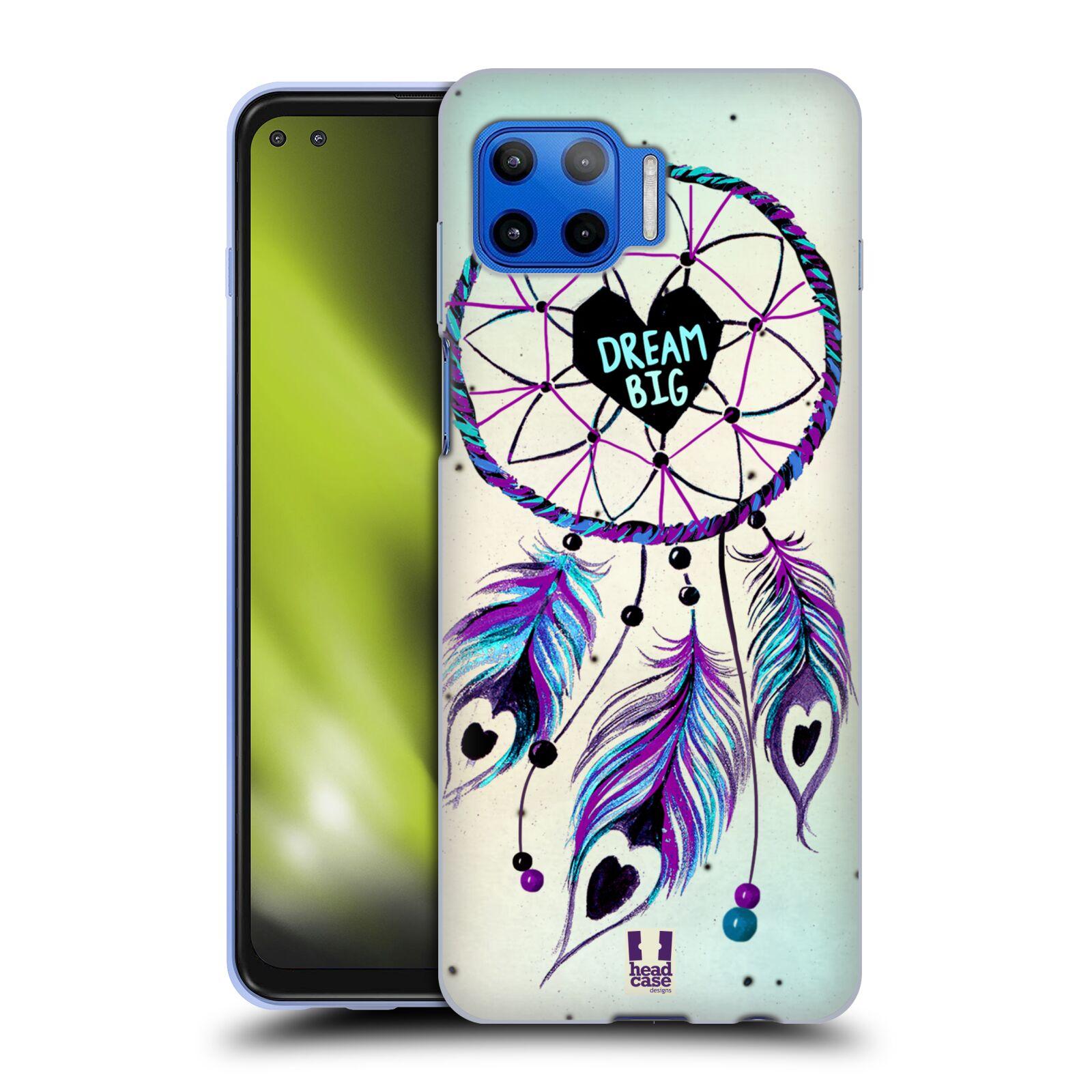 Silikonové pouzdro na mobil Motorola Moto G 5G Plus - Head Case - Lapač Assorted Dream Big Srdce