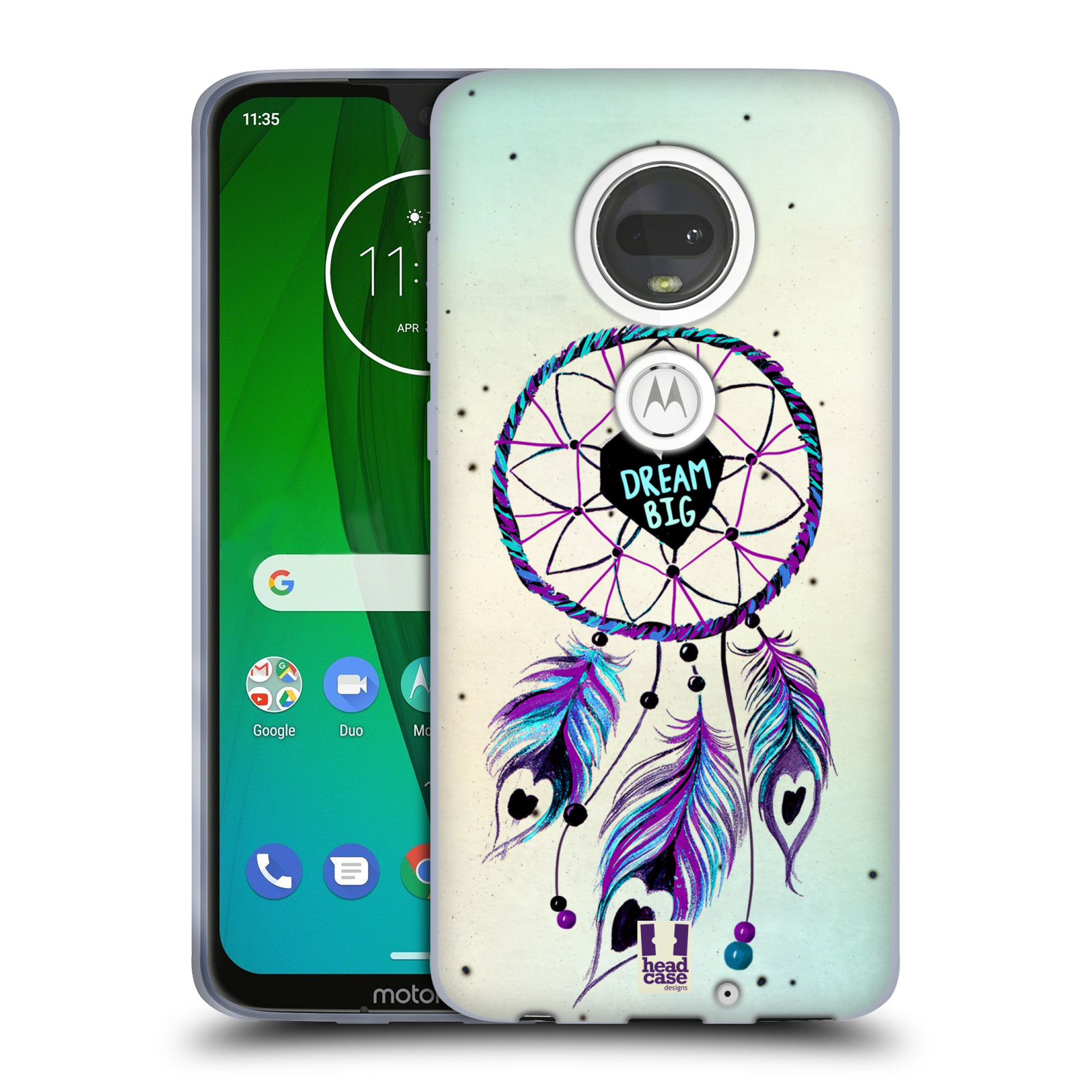 Silikonové pouzdro na mobil Motorola Moto G7 - Head Case - Lapač Assorted Dream Big Srdce