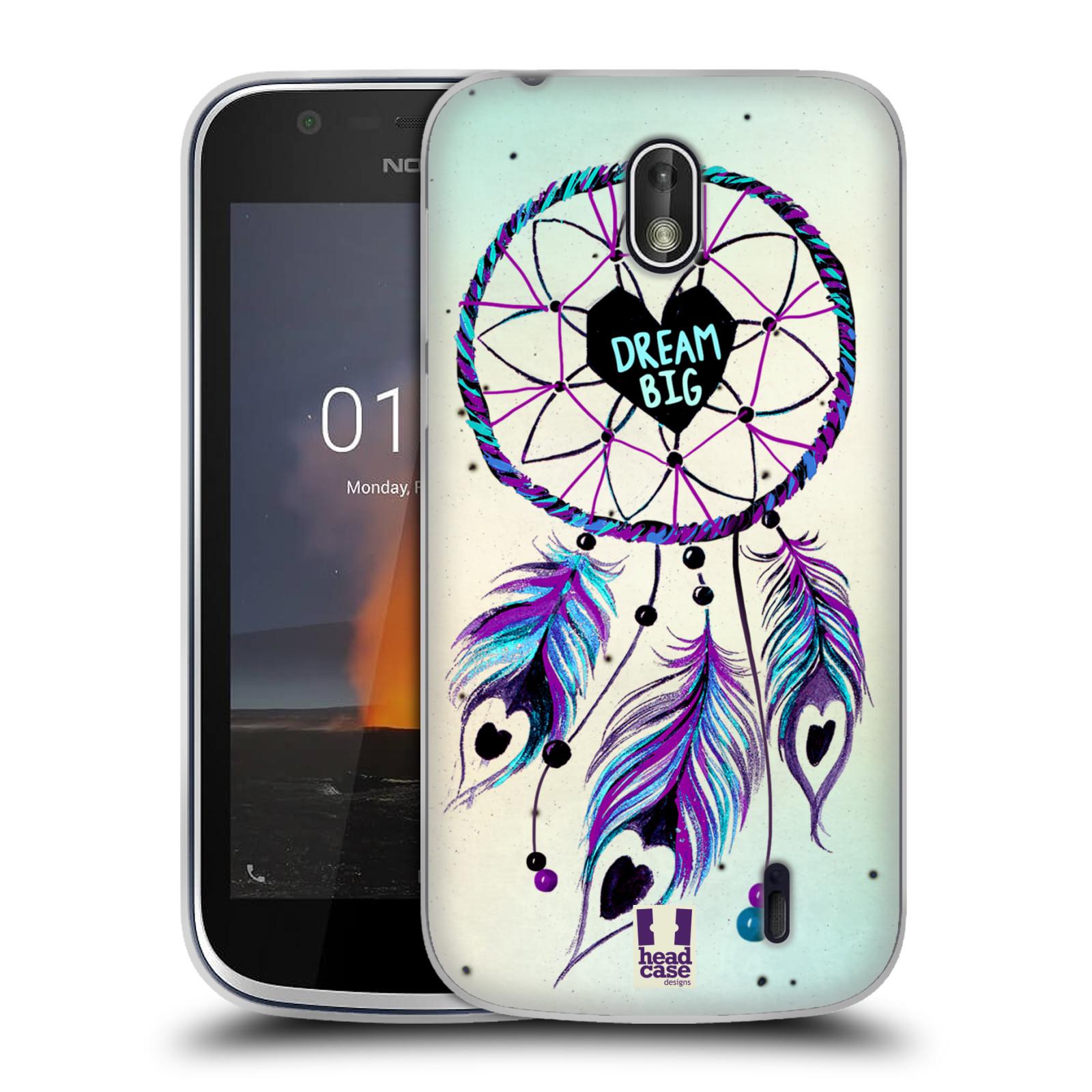Silikonové pouzdro na mobil Nokia 1 - Head Case - Lapač Assorted Dream Big Srdce