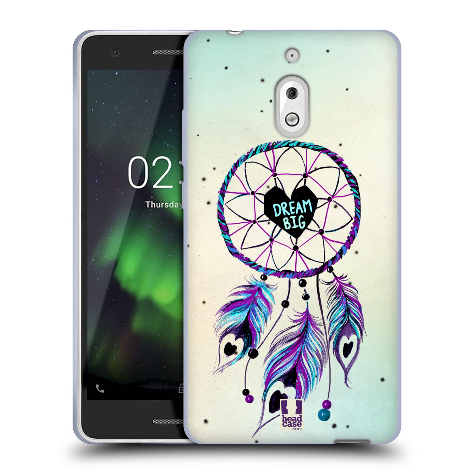 Silikonové pouzdro na mobil Nokia 2.1 - Head Case - Lapač Assorted Dream Big Srdce