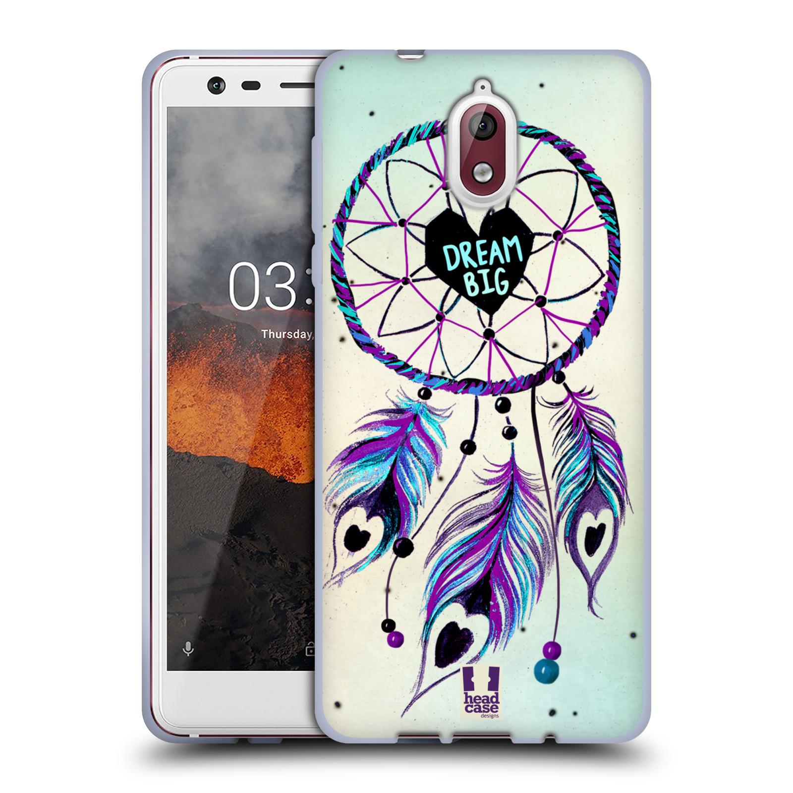 Silikonové pouzdro na mobil Nokia 3.1 - Head Case - Lapač Assorted Dream Big Srdce
