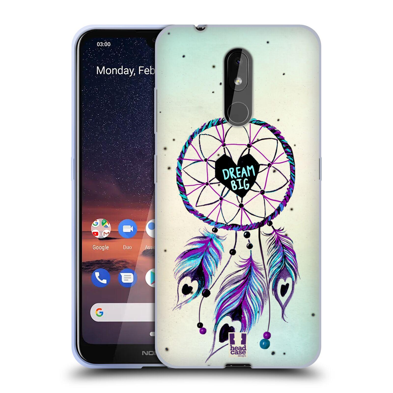 Silikonové pouzdro na mobil Nokia 3.2 - Head Case - Lapač Assorted Dream Big Srdce