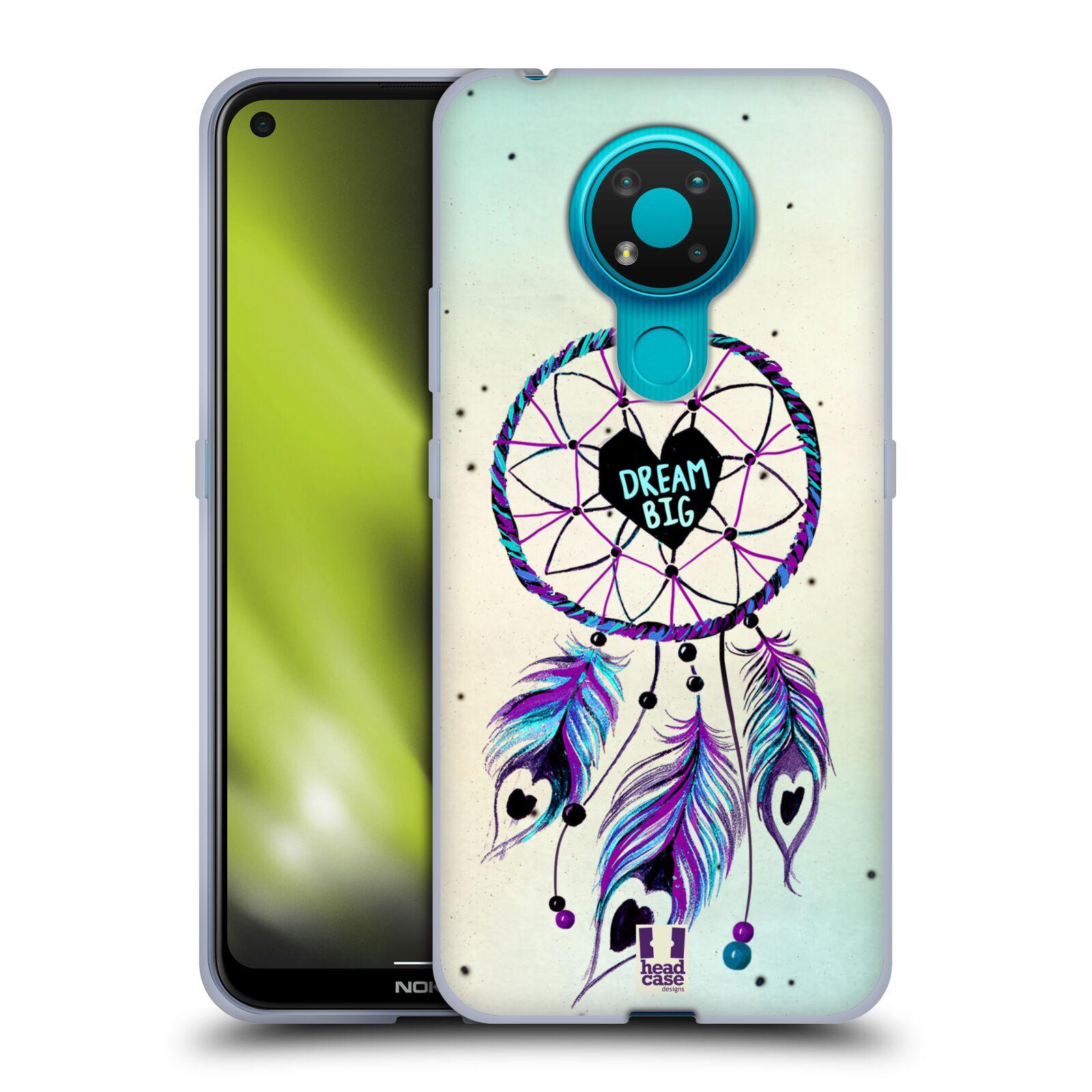 Silikonové pouzdro na mobil Nokia 3.4 - Head Case - Lapač Assorted Dream Big Srdce