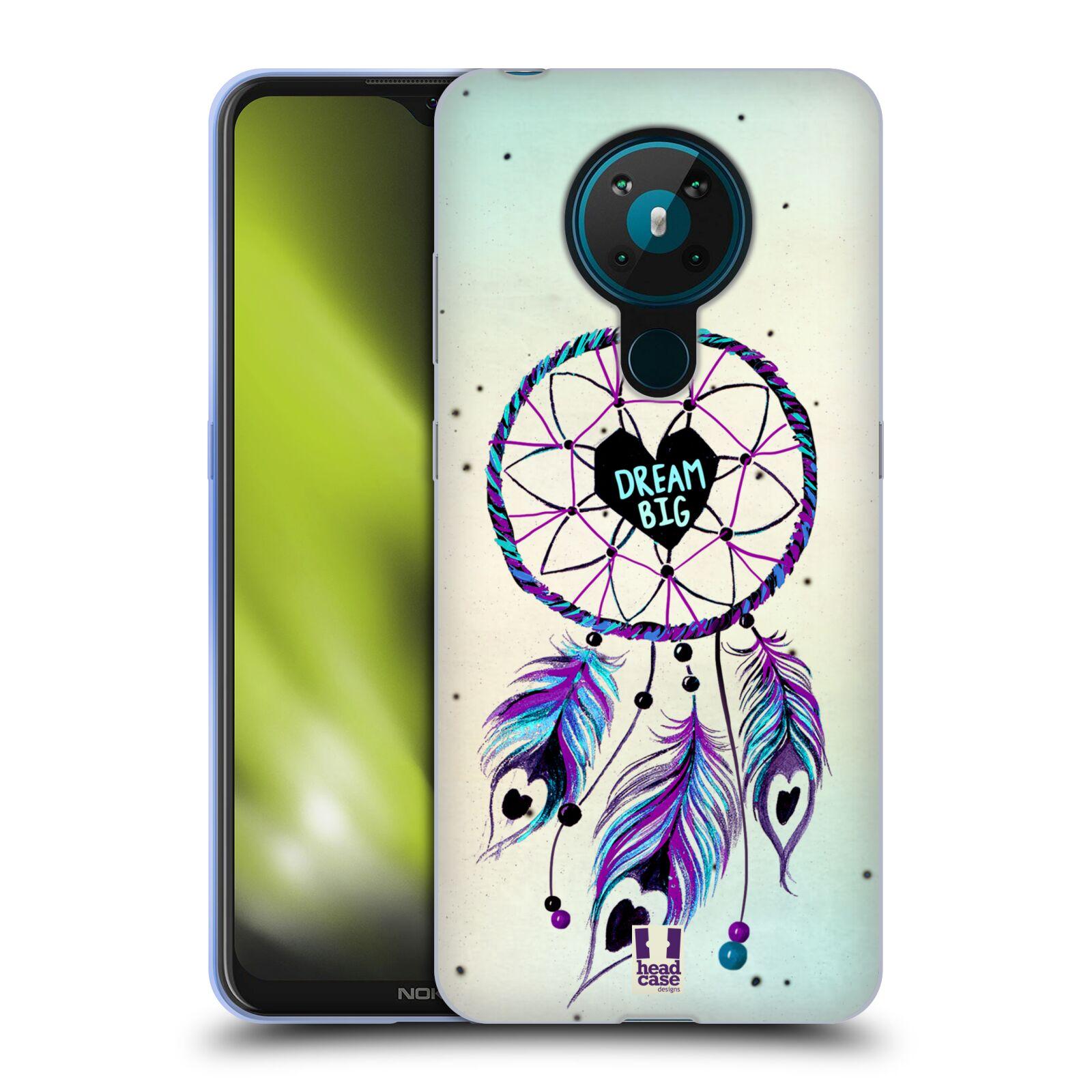 Silikonové pouzdro na mobil Nokia 5.3 - Head Case - Lapač Assorted Dream Big Srdce