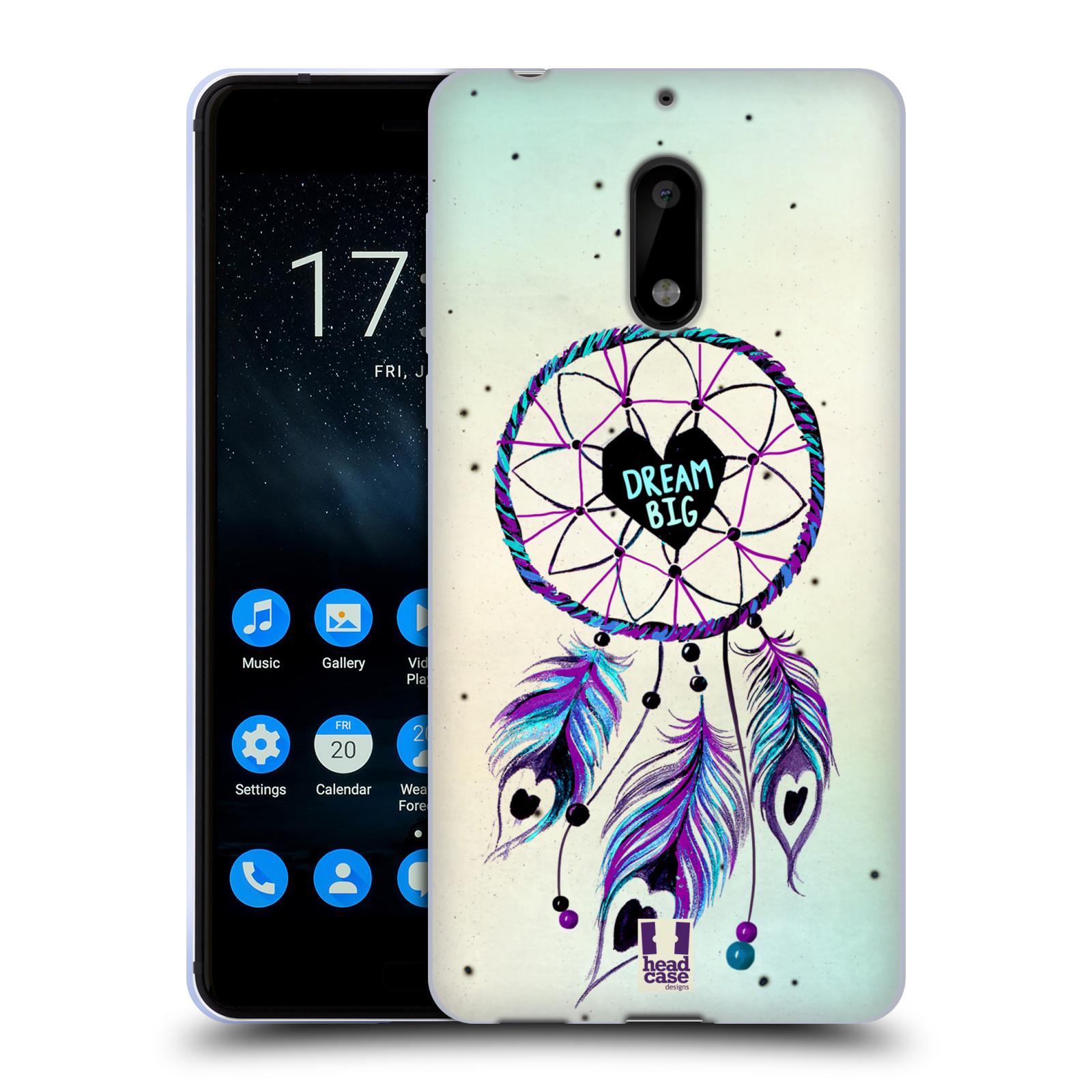 Silikonové pouzdro na mobil Nokia 6 - Head Case - Lapač Assorted Dream Big Srdce