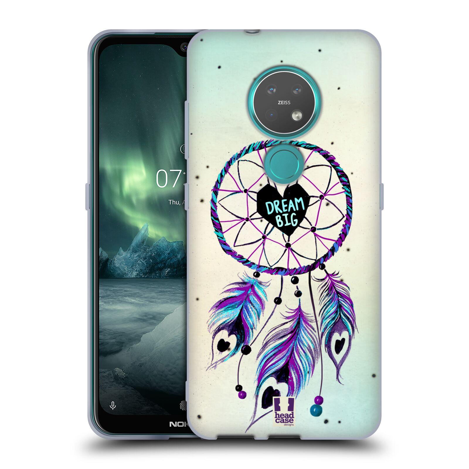 Silikonové pouzdro na mobil Nokia 7.2 - Head Case - Lapač Assorted Dream Big Srdce