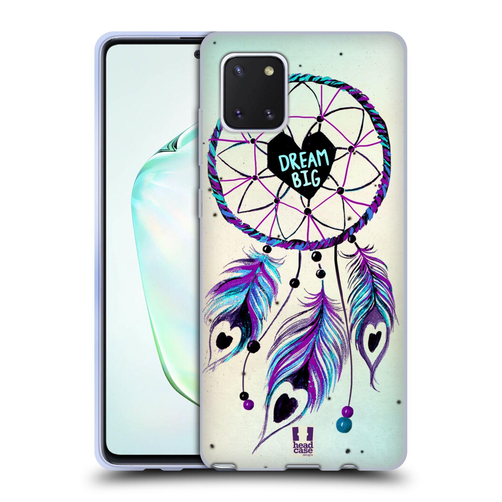 Silikonové pouzdro na mobil Samsung Galaxy Note 10 Lite - Head Case - Lapač Assorted Dream Big Srdce