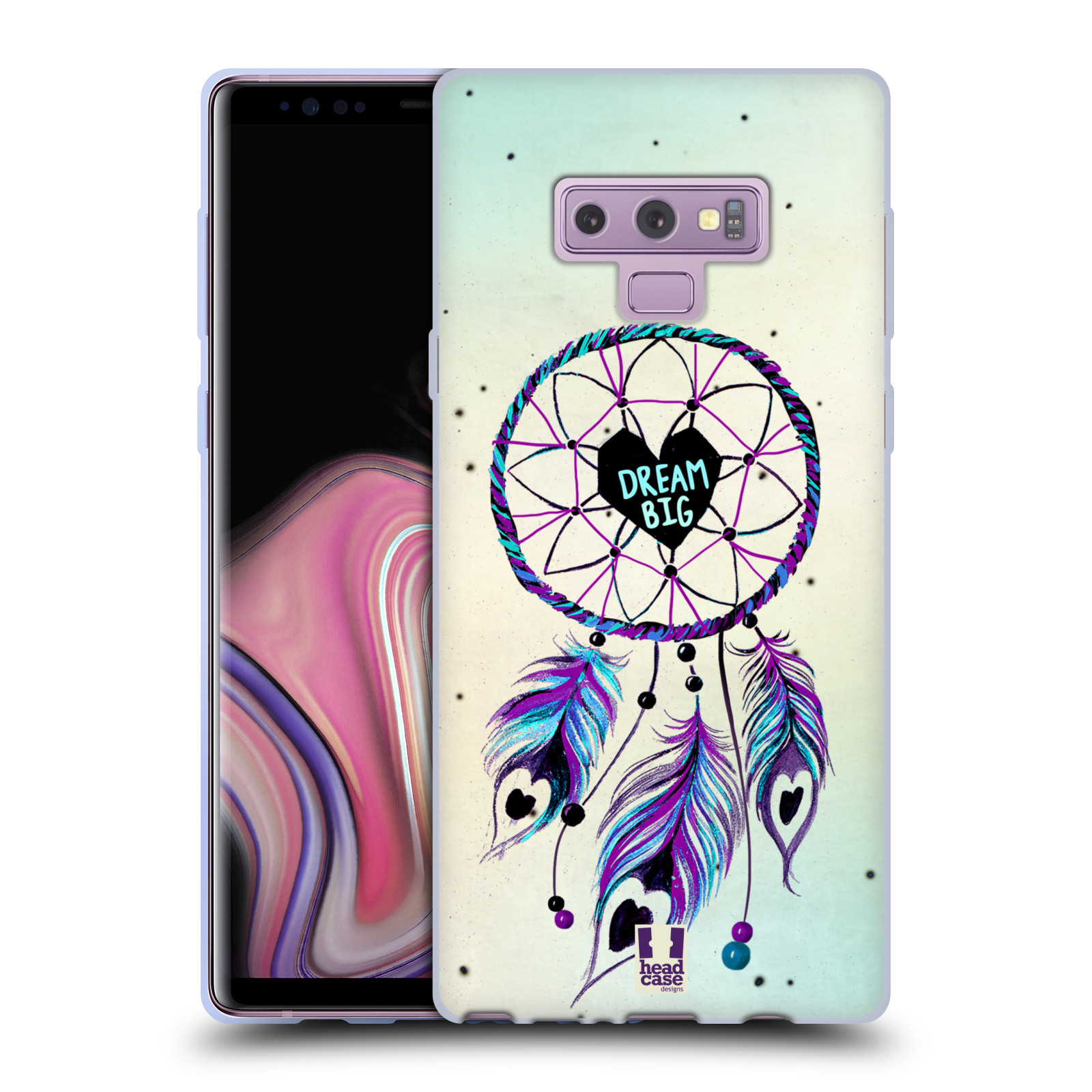 Silikonové pouzdro na mobil Samsung Galaxy Note 9 - Head Case - Lapač Assorted Dream Big Srdce