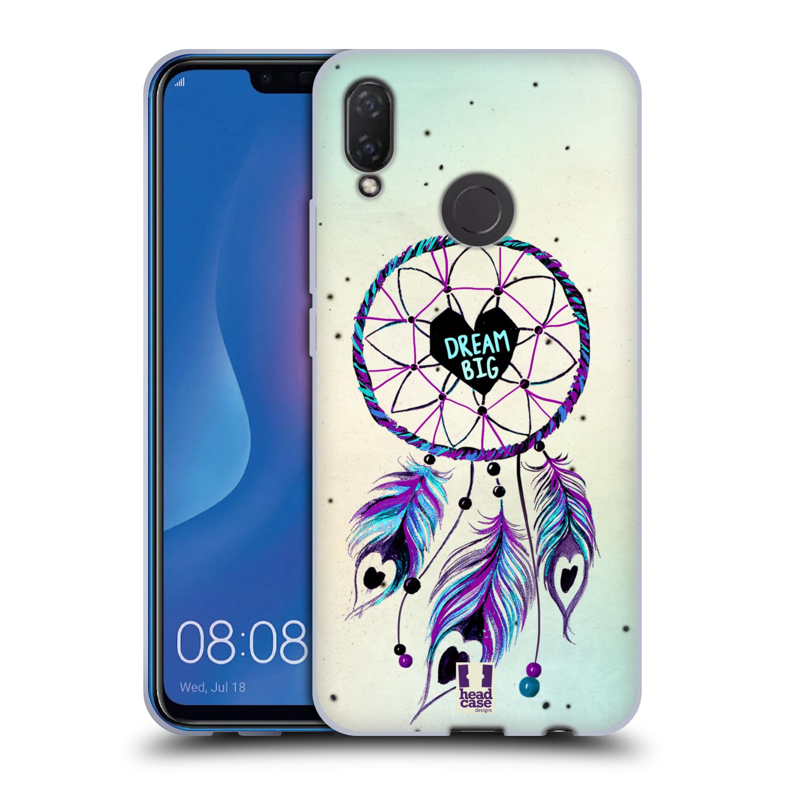 Silikonové pouzdro na mobil Huawei Nova 3i - Head Case - Lapač Assorted Dream Big Srdce