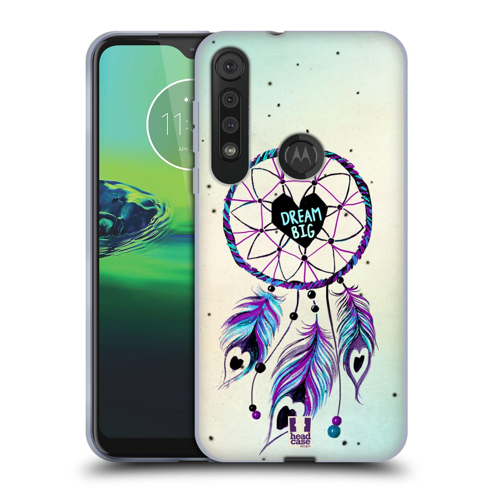 Silikonové pouzdro na mobil Motorola One Macro - Head Case - Lapač Assorted Dream Big Srdce