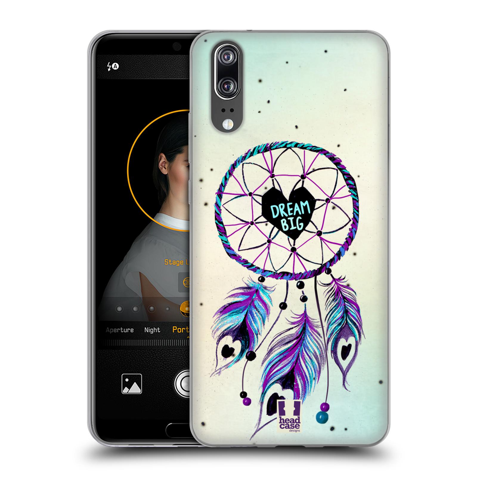 Silikonové pouzdro na mobil Huawei P20 - Head Case - Lapač Assorted Dream Big Srdce