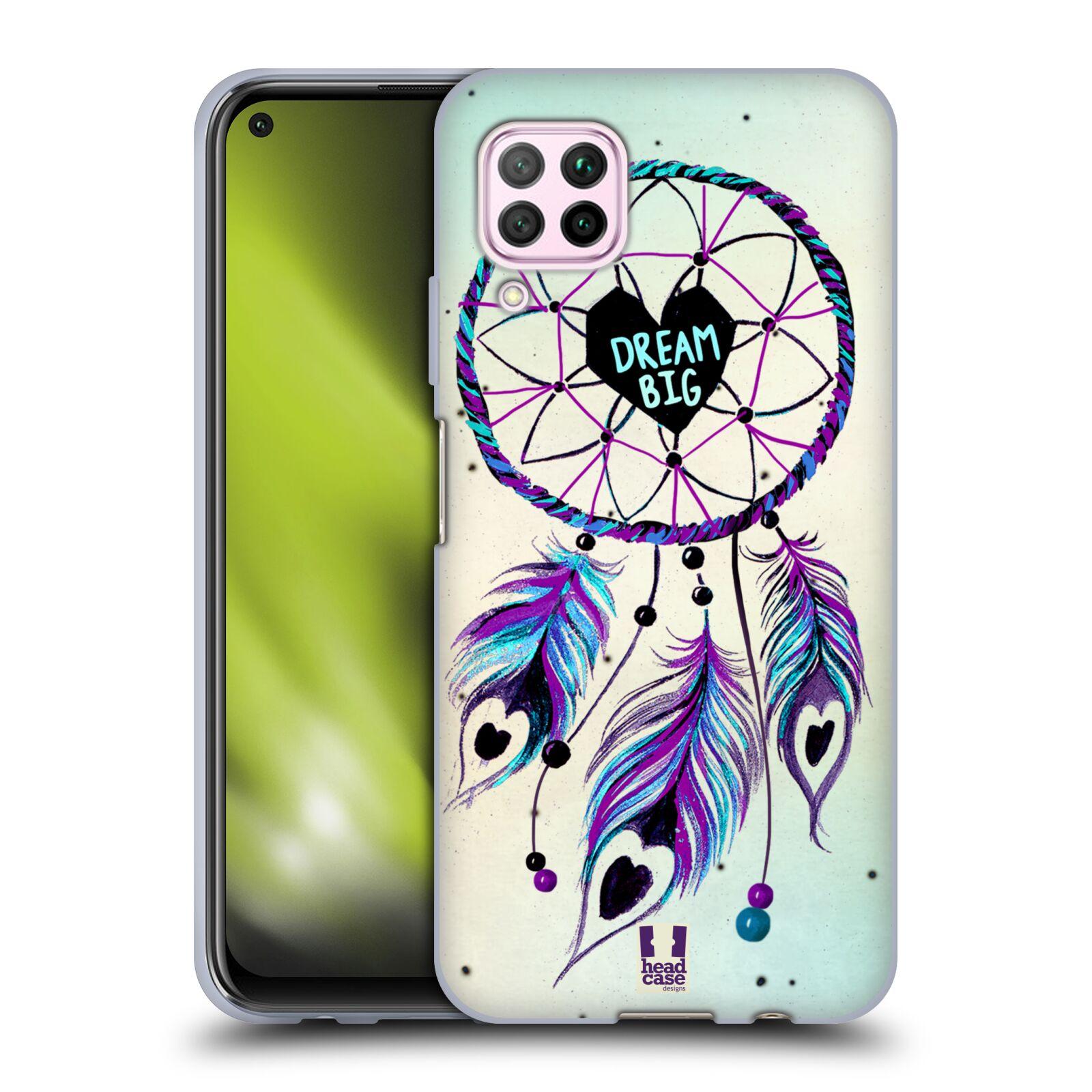 Silikonové pouzdro na mobil Huawei P40 Lite - Head Case - Lapač Assorted Dream Big Srdce