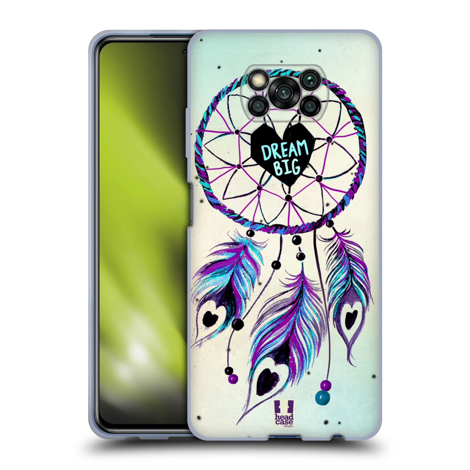 Silikonové pouzdro na mobil Xiaomi Poco X3 NFC - Head Case - Lapač Assorted Dream Big Srdce