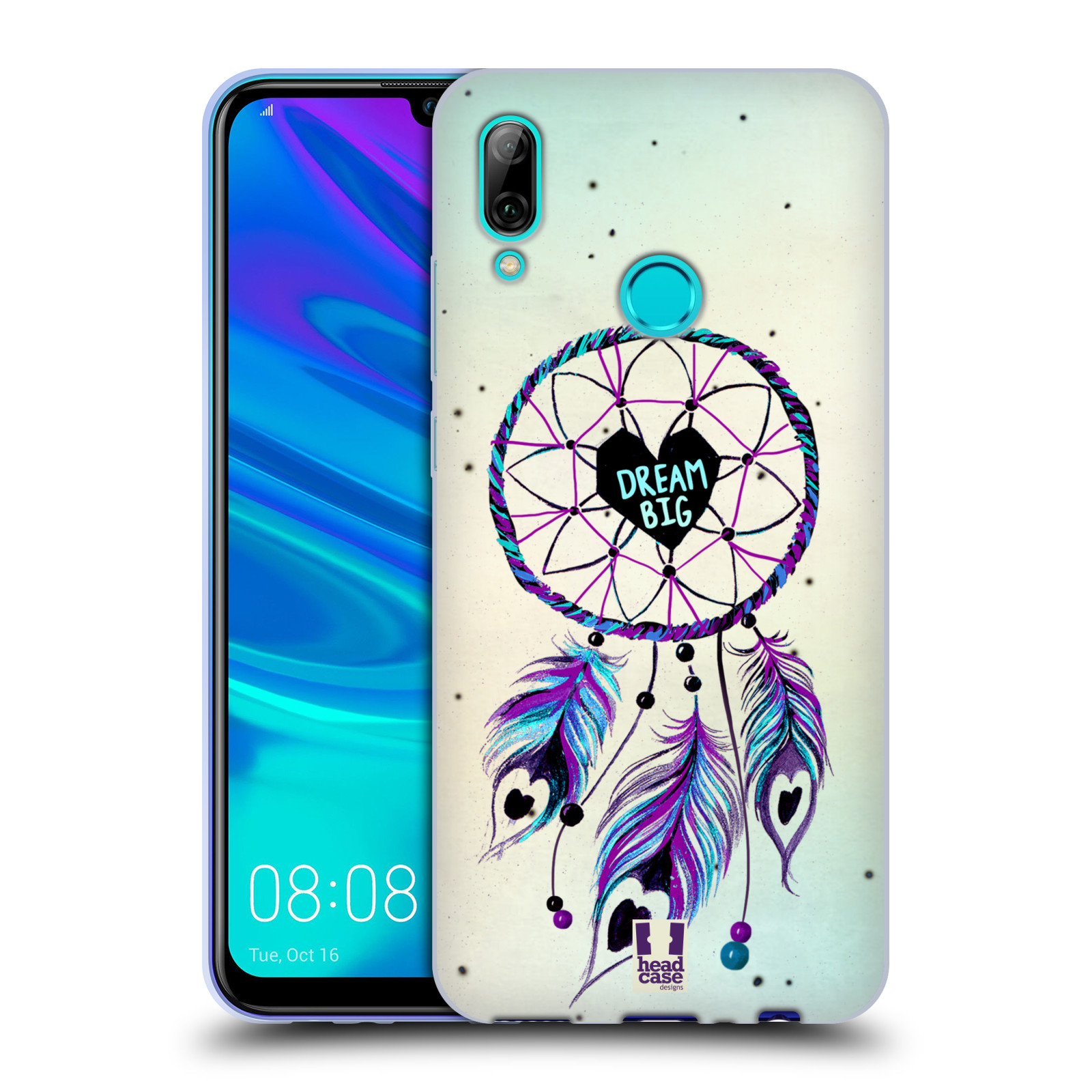 Silikonové pouzdro na mobil Huawei P Smart (2019) - Head Case - Lapač Assorted Dream Big Srdce