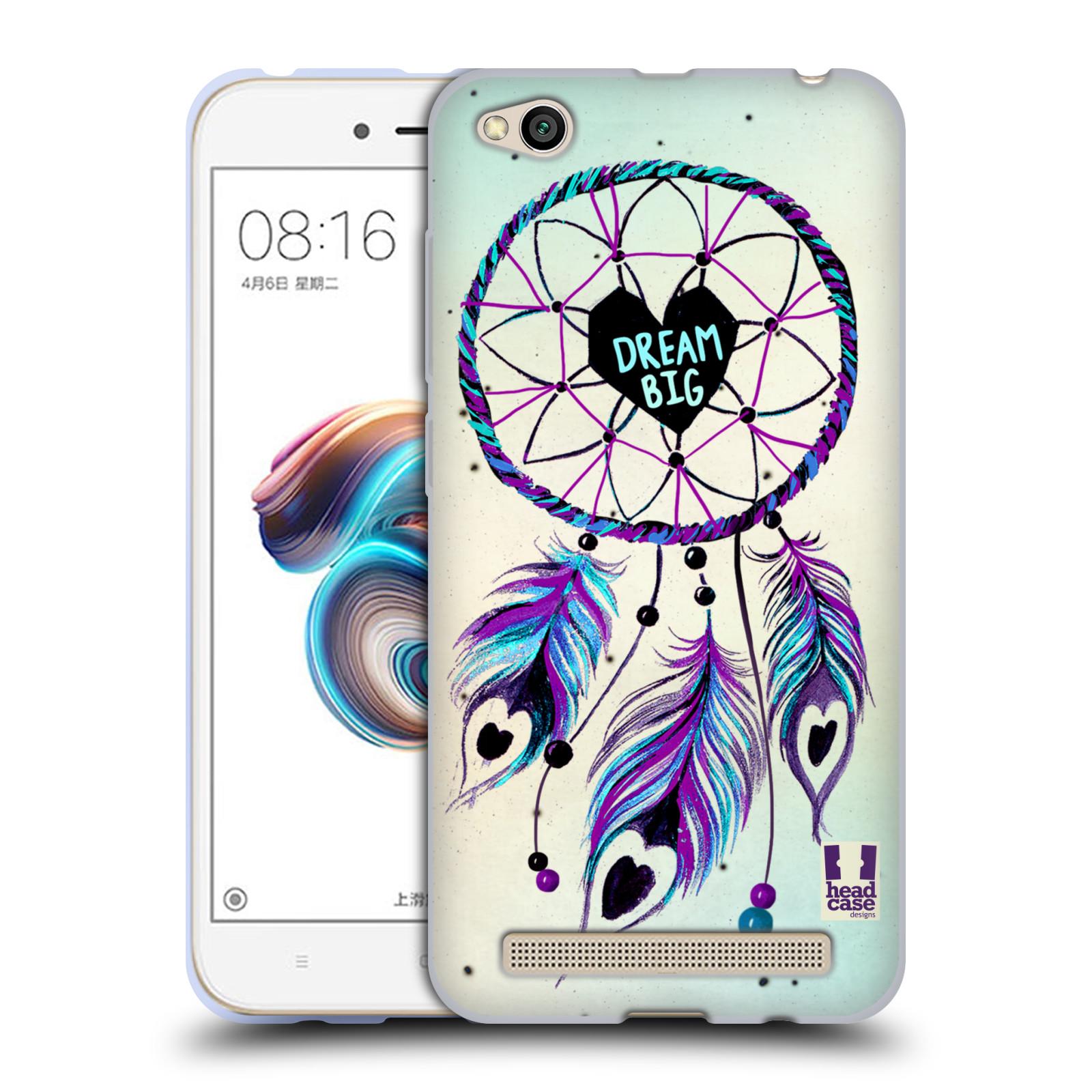 Silikonové pouzdro na mobil Xiaomi Redmi 5A - Head Case - Lapač Assorted Dream Big Srdce