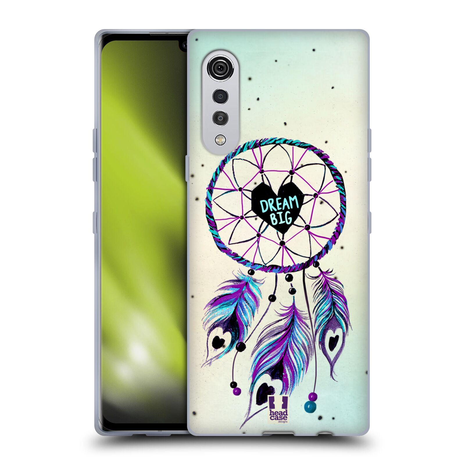 Silikonové pouzdro na mobil LG Velvet - Head Case - Lapač Assorted Dream Big Srdce