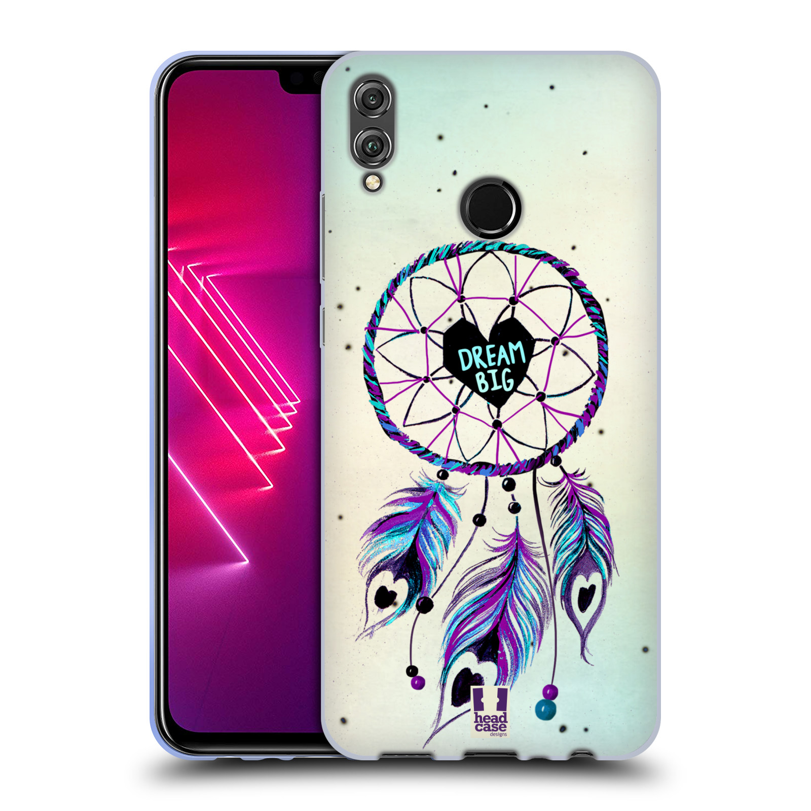 Silikonové pouzdro na mobil Honor View 10 Lite - Head Case - Lapač Assorted Dream Big Srdce
