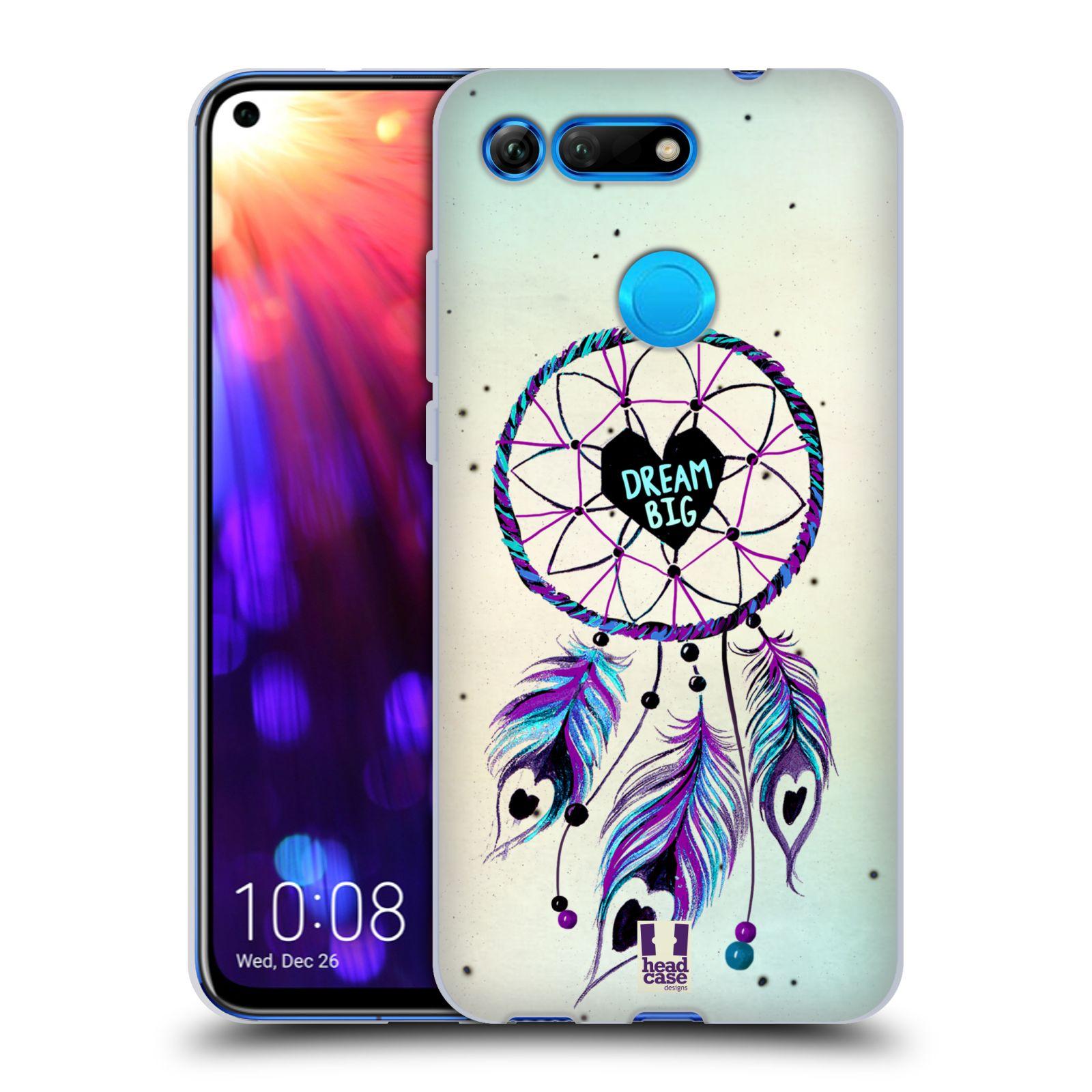 Silikonové pouzdro na mobil Honor View 20 - Head Case - Lapač Assorted Dream Big Srdce