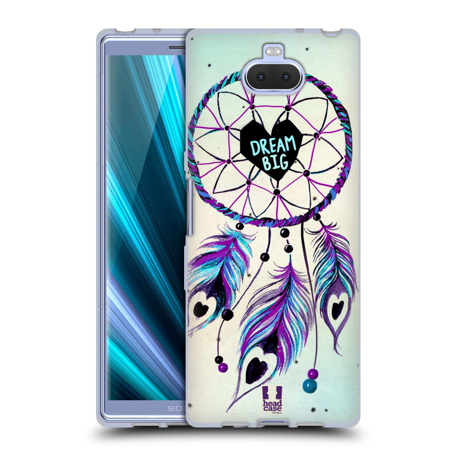 Silikonové pouzdro na mobil Sony Xperia 10 - Head Case - Lapač Assorted Dream Big Srdce