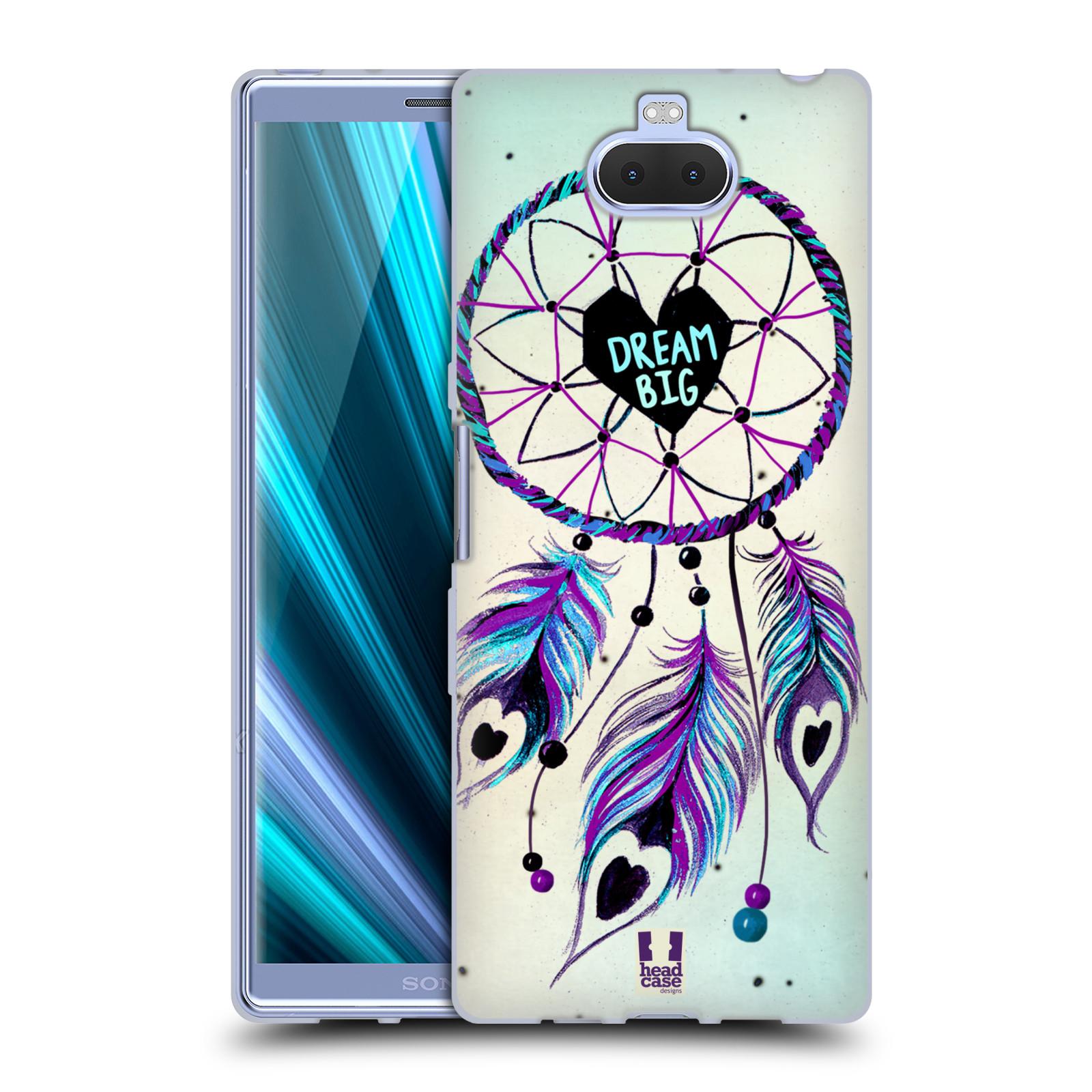 Silikonové pouzdro na mobil Sony Xperia 10 Plus - Head Case - Lapač Assorted Dream Big Srdce