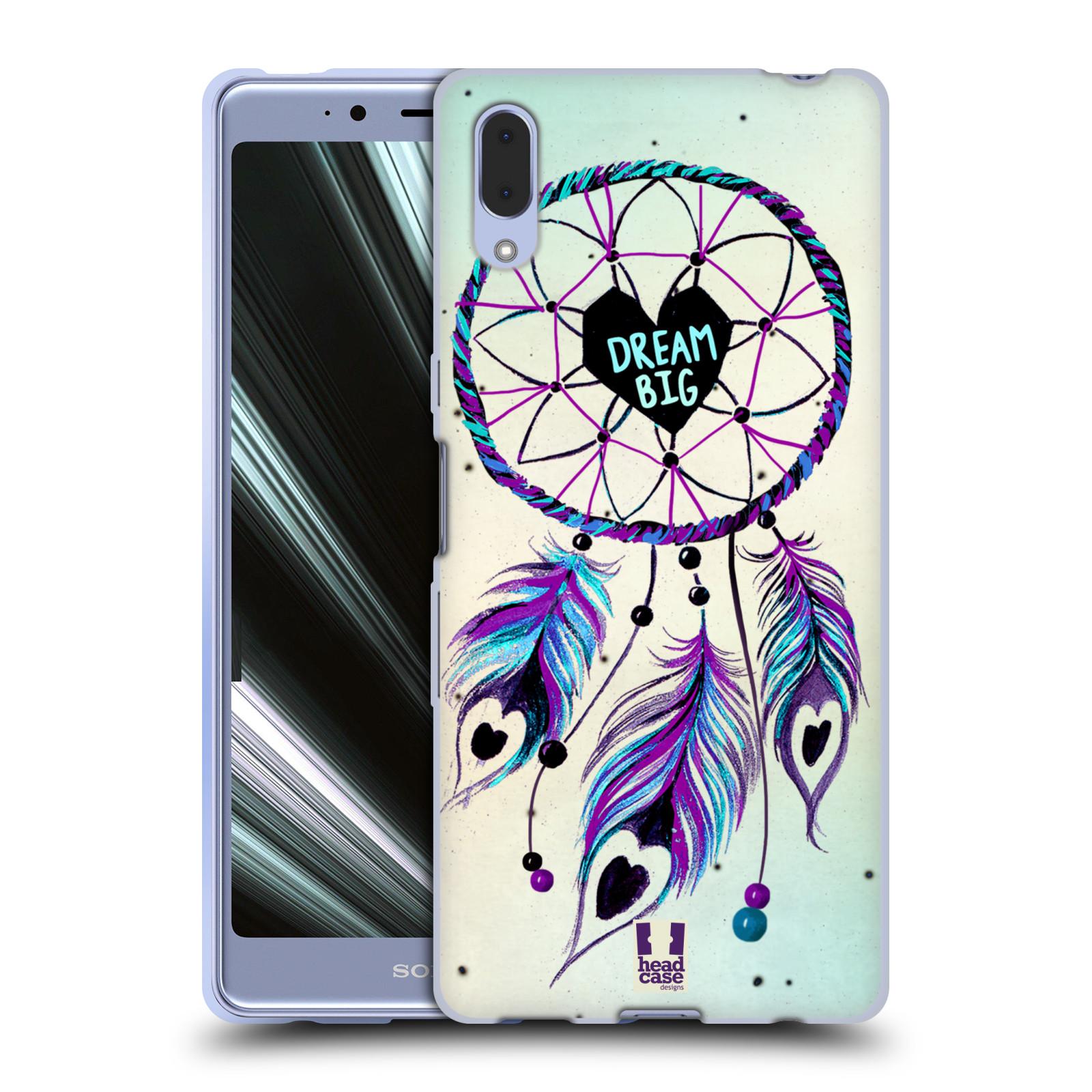 Silikonové pouzdro na mobil Sony Xperia L3 - Head Case - Lapač Assorted Dream Big Srdce