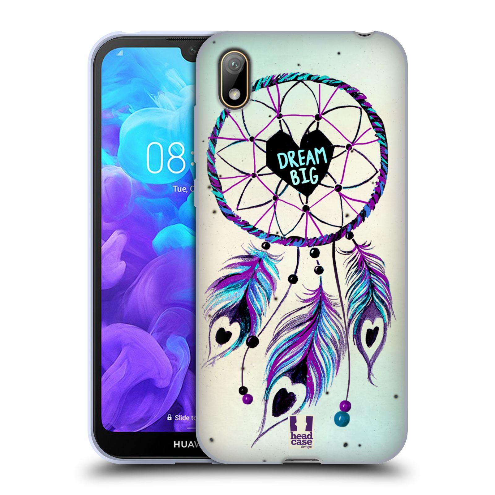 Silikonové pouzdro na mobil Huawei Y5 (2019) - Head Case - Lapač Assorted Dream Big Srdce