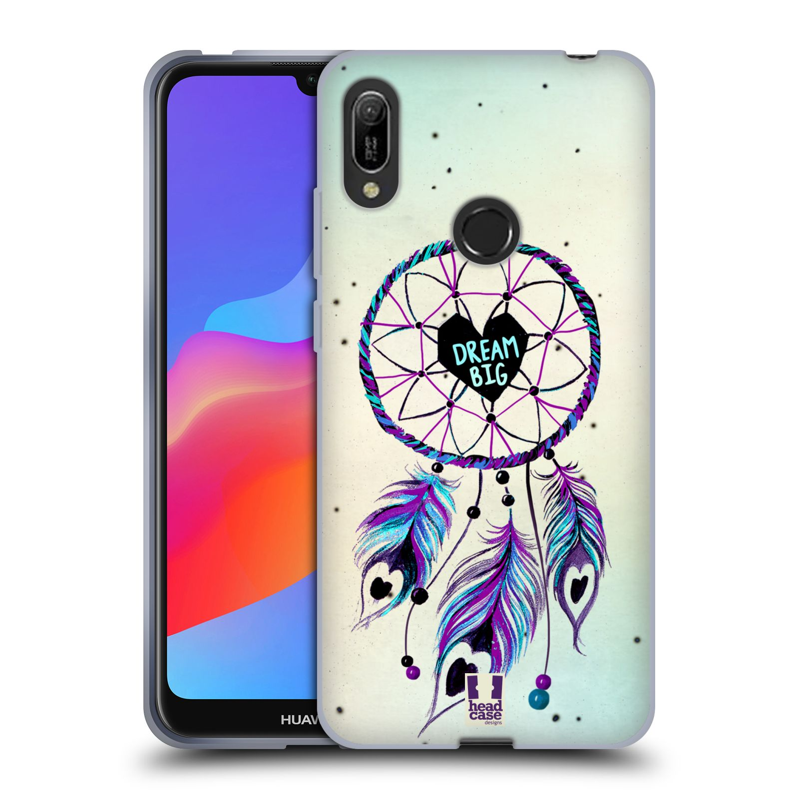 Silikonové pouzdro na mobil Huawei Y6 (2019) - Head Case - Lapač Assorted Dream Big Srdce