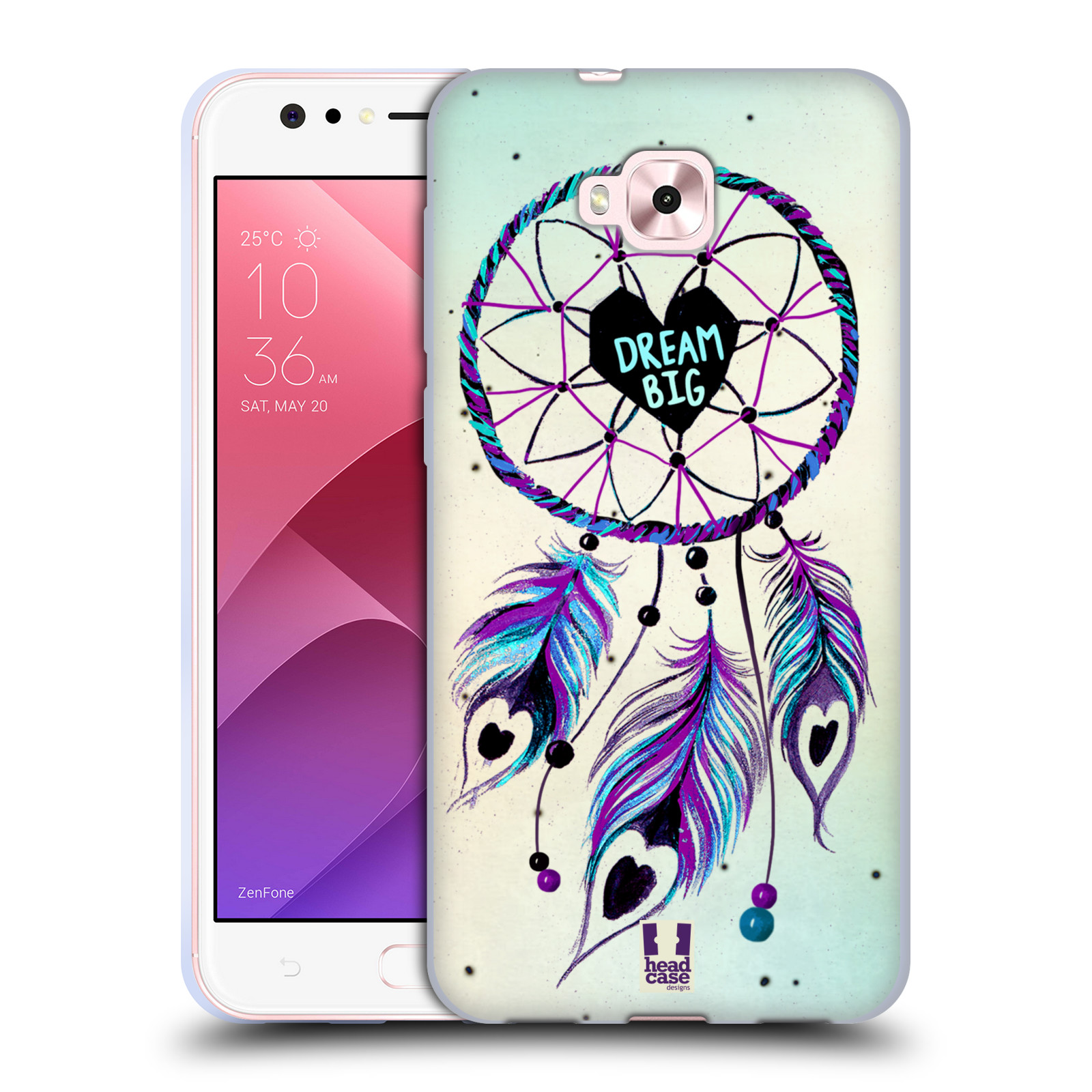 Silikonové pouzdro na mobil Asus Zenfone 4 Selfie ZD553KL - Head Case - Lapač Assorted Dream Big Srdce