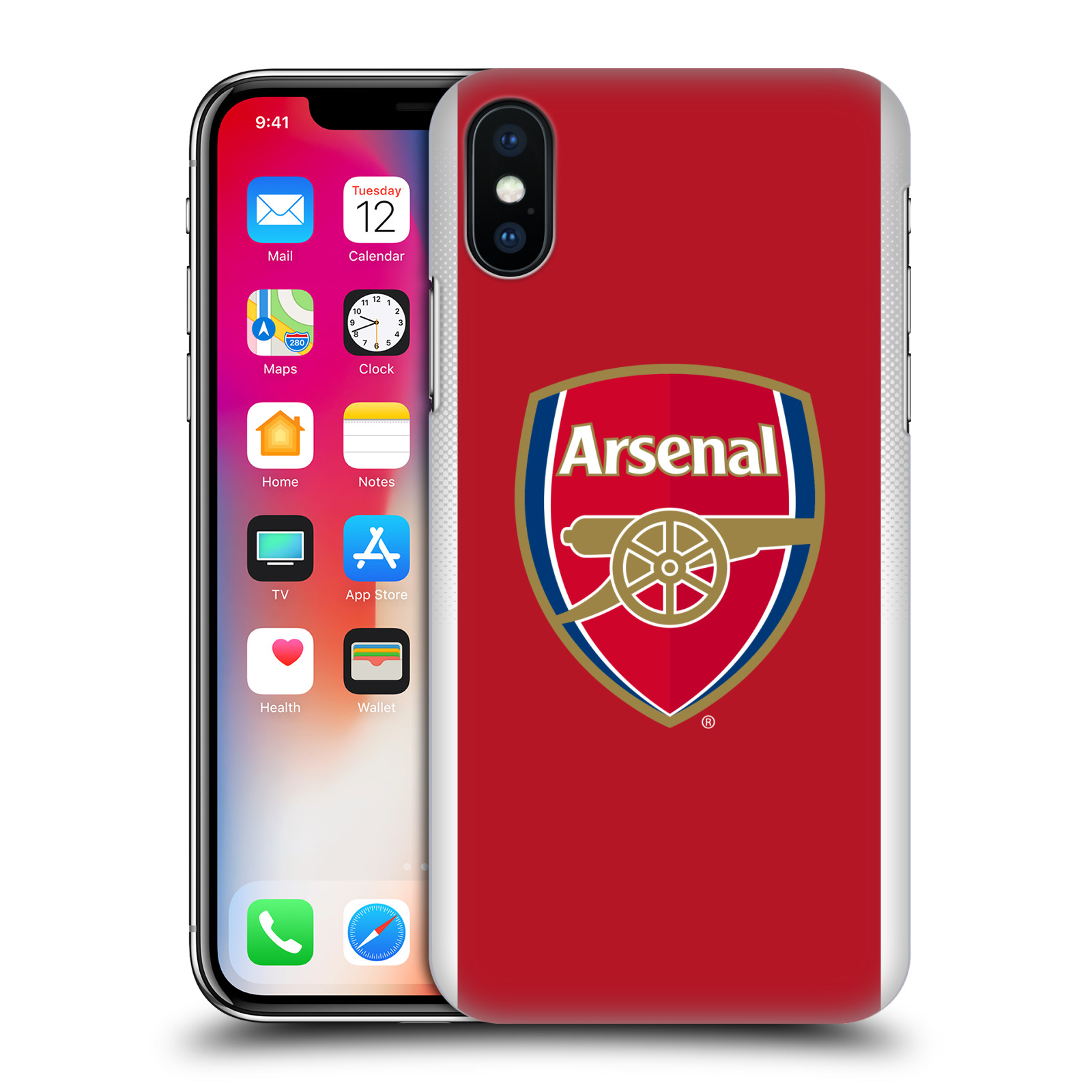 Plastové pouzdro na mobil Apple iPhone X - Head Case - Arsenal FC - Logo klubu