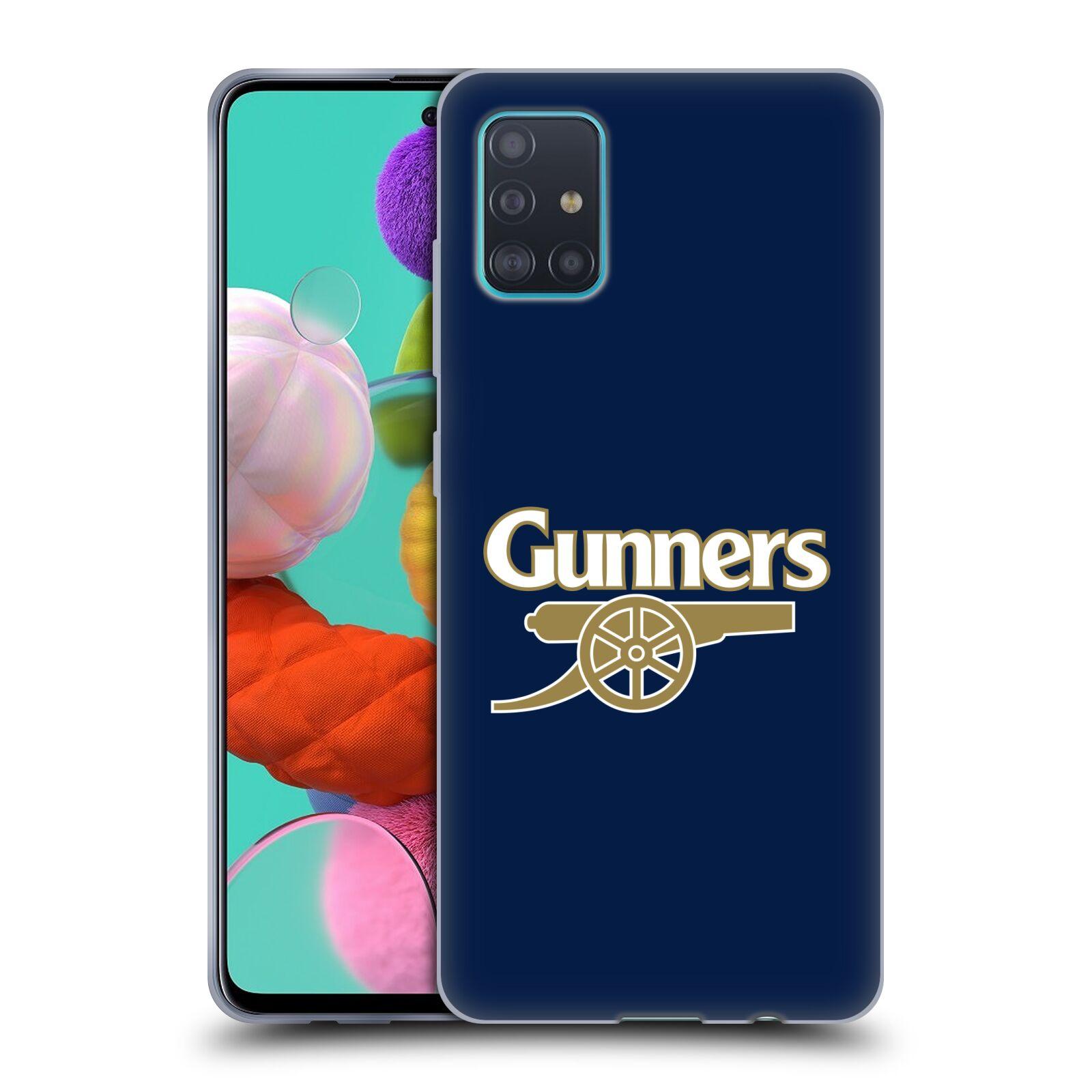 Silikonové pouzdro na mobil Samsung Galaxy A51 - Head Case - Arsenal FC - Gunners